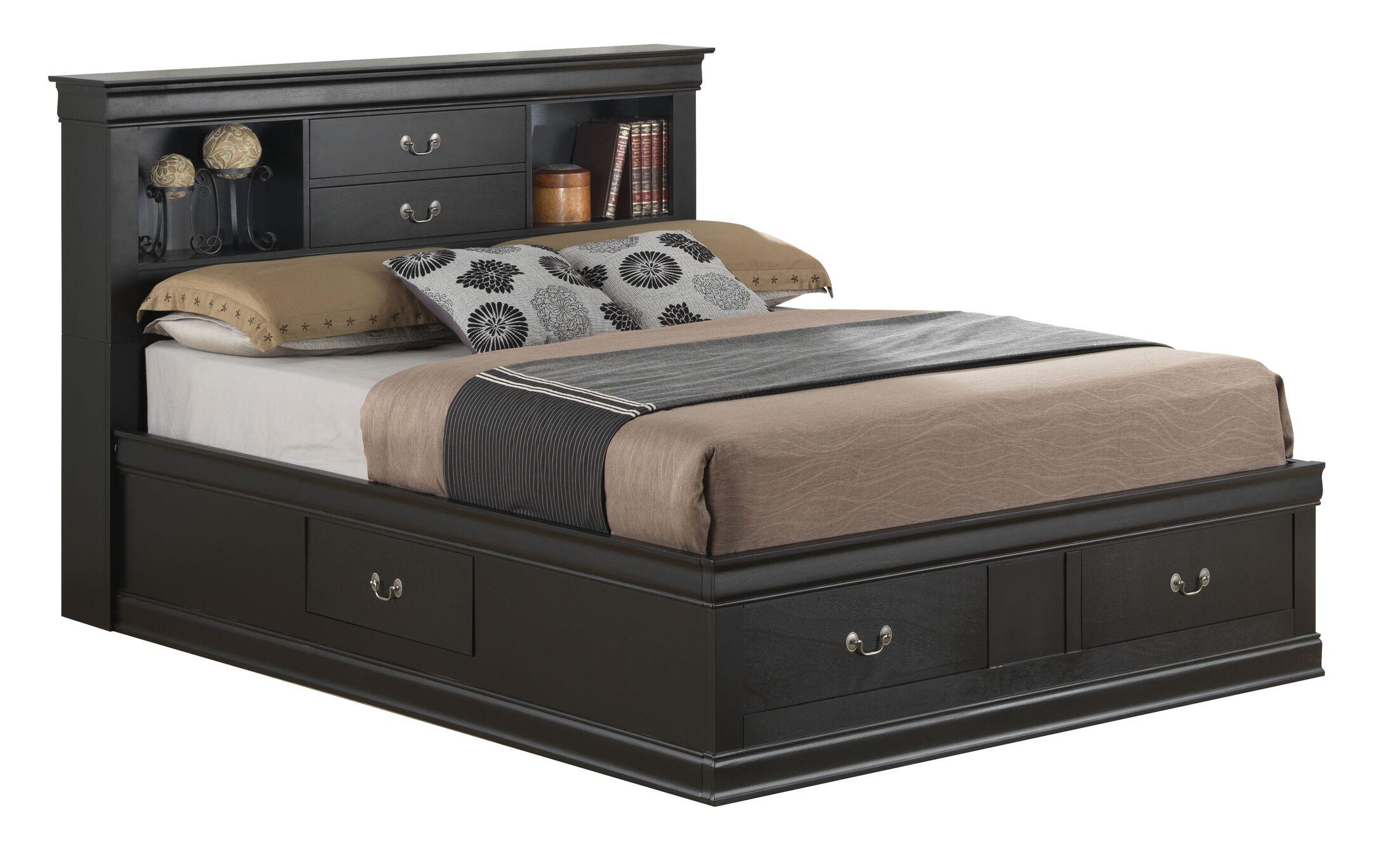 Lisle Storage Platform Bed Color: Cherry, Size: Twin