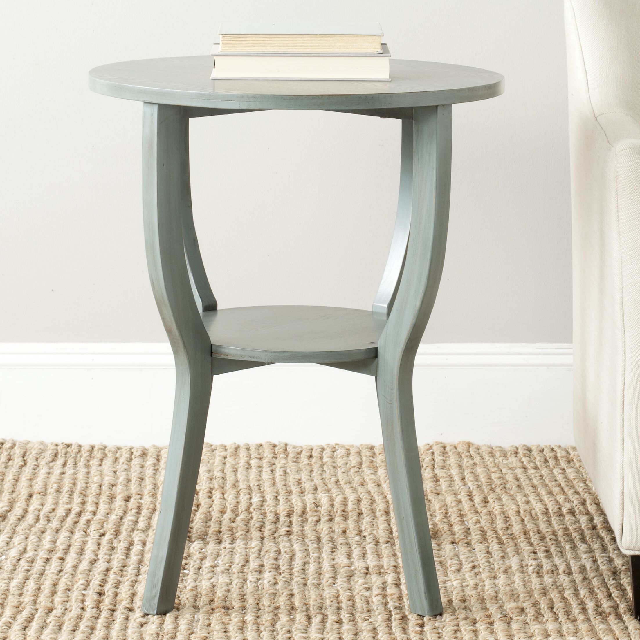 Tussilage End Table Color: Barn Blue
