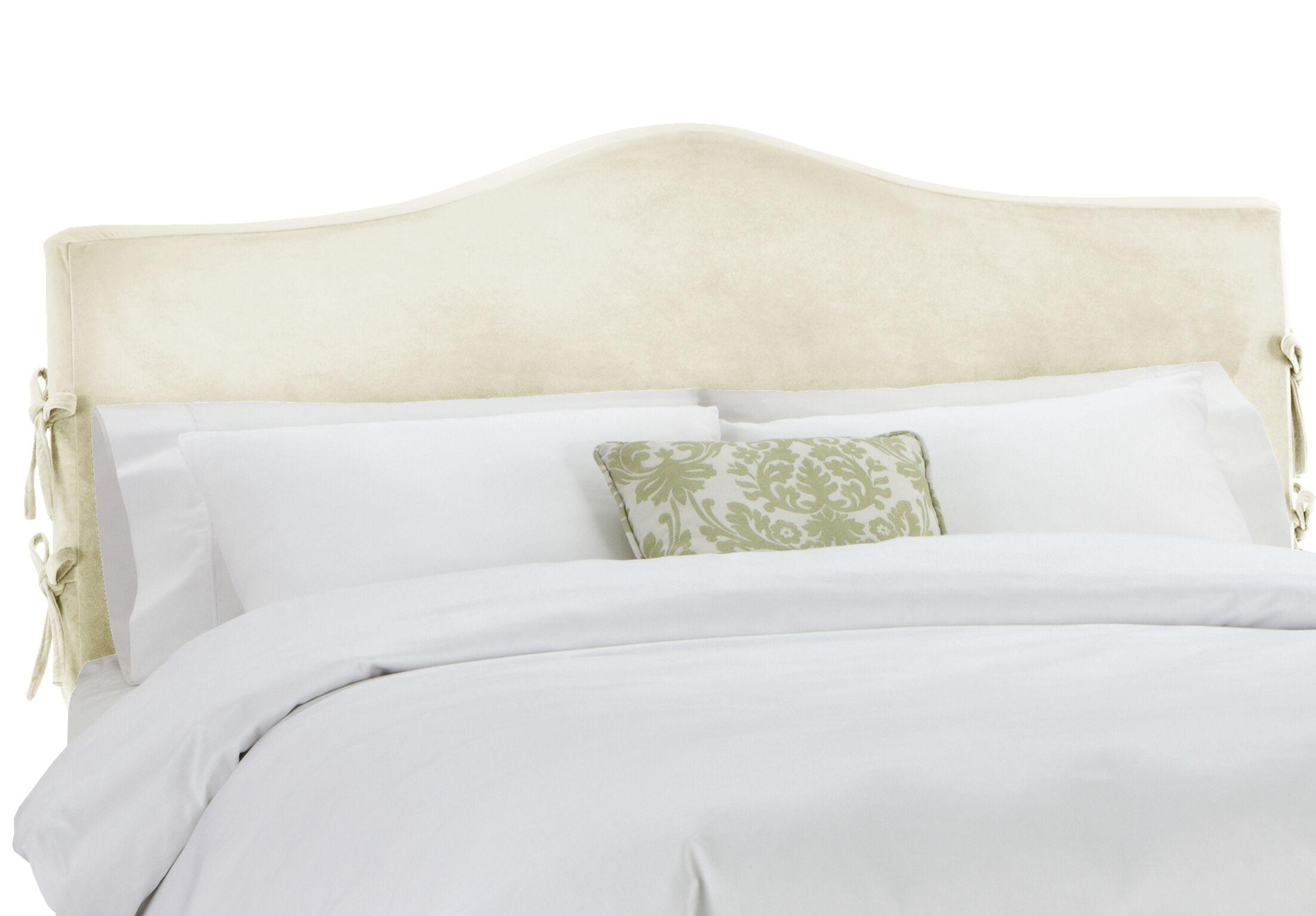 Anis Slipcover Upholstered Panel Headboard Upholstery: Regal Antique White, Size: Full