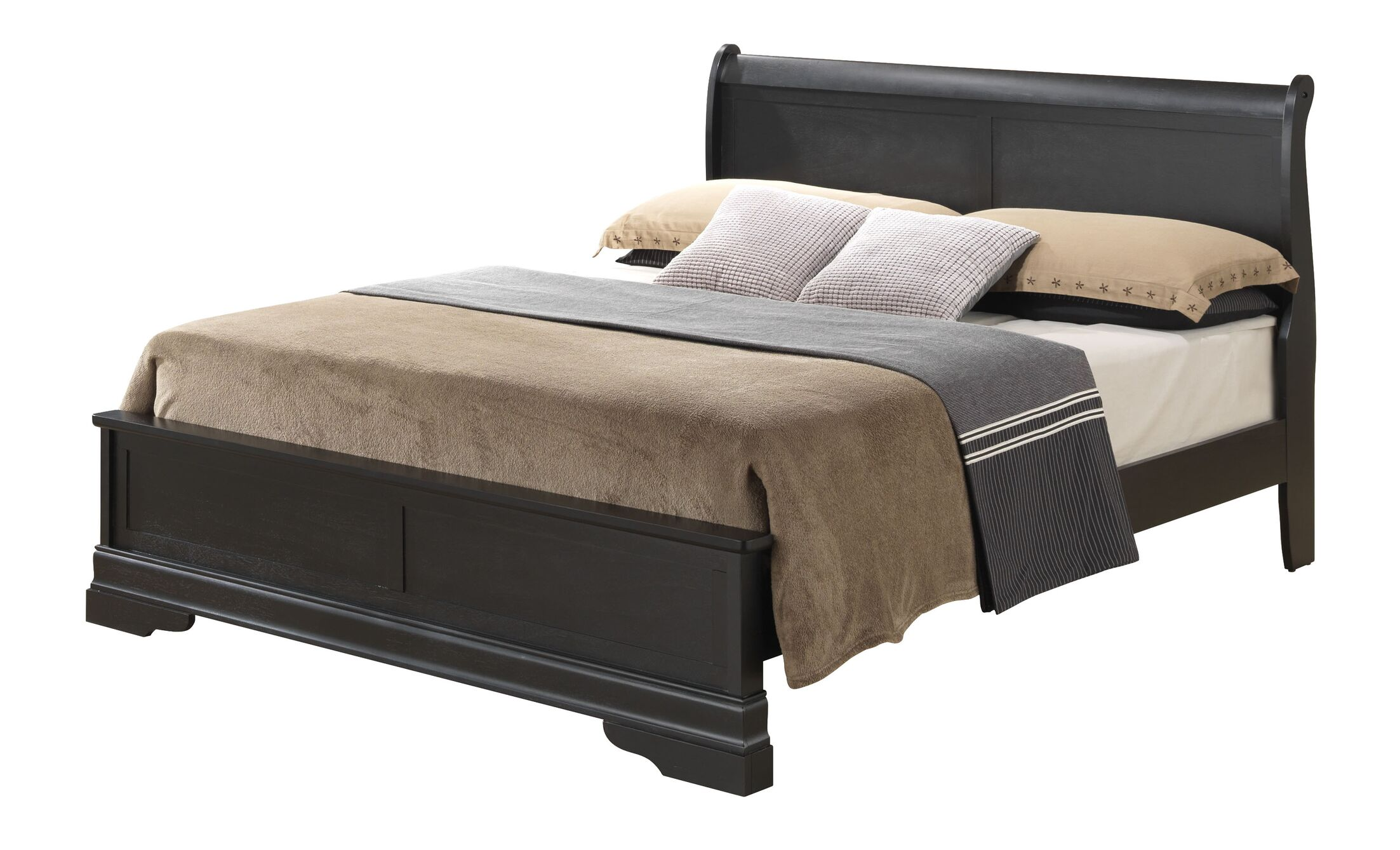 Lisle Panel Bed Size: King, Color: Cappuccino