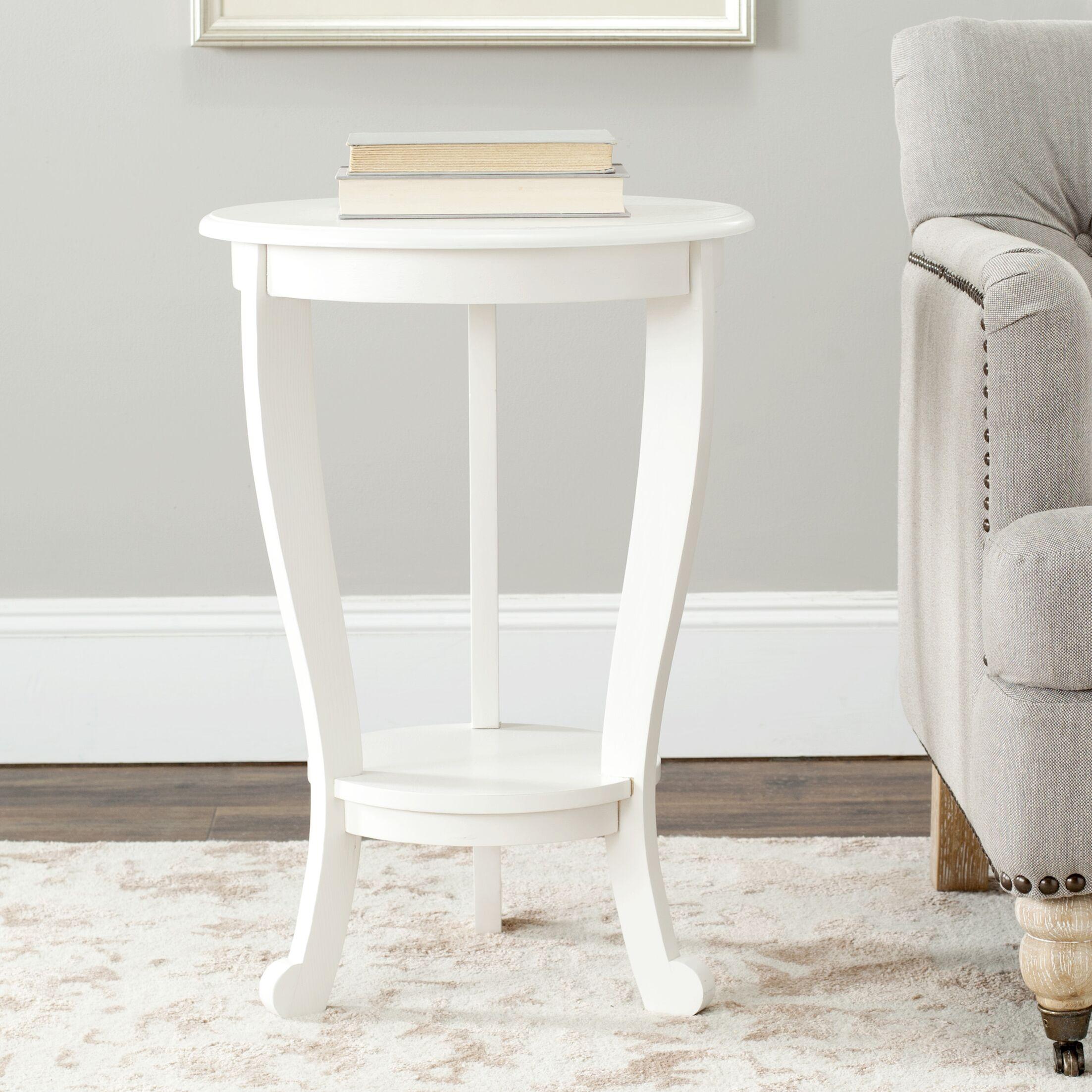 Yacine End Table Color: Distressed Cream