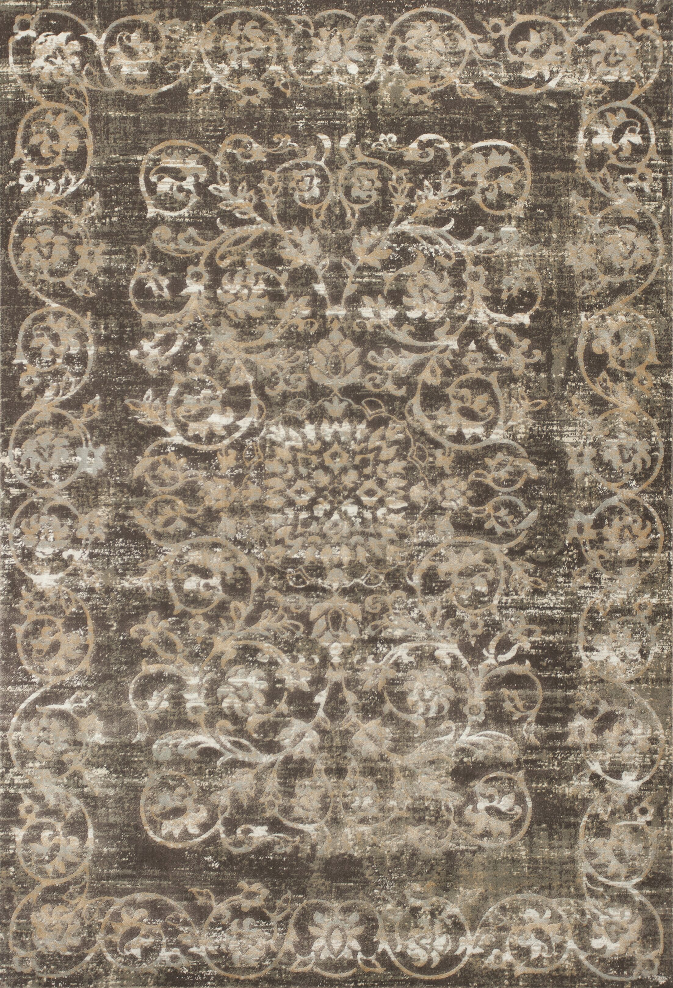 Camellia Brown Area Rug Rug Size: 7'10