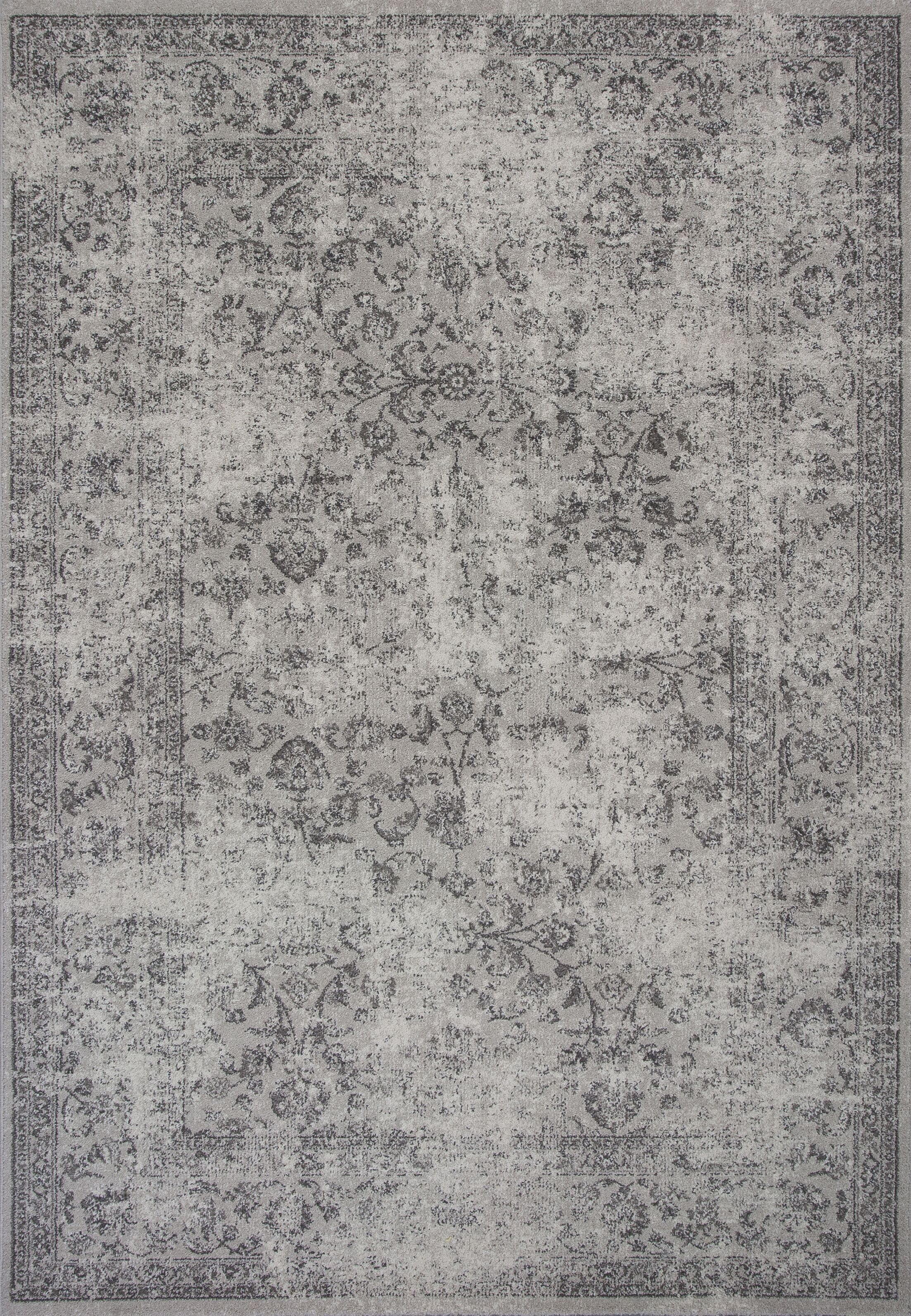 Cassandre Gray Area Rug Rug Size: 6'7