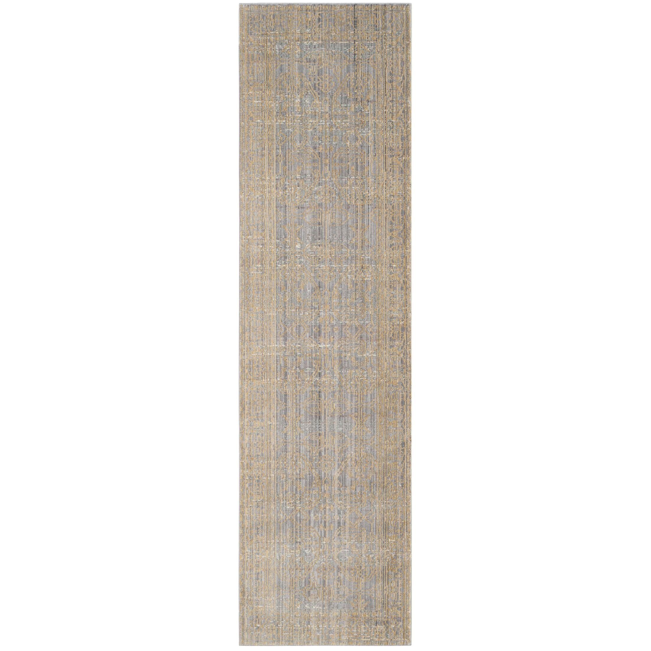 Menton Gray / Gold Area Rug Rug Size: Runner 2'3