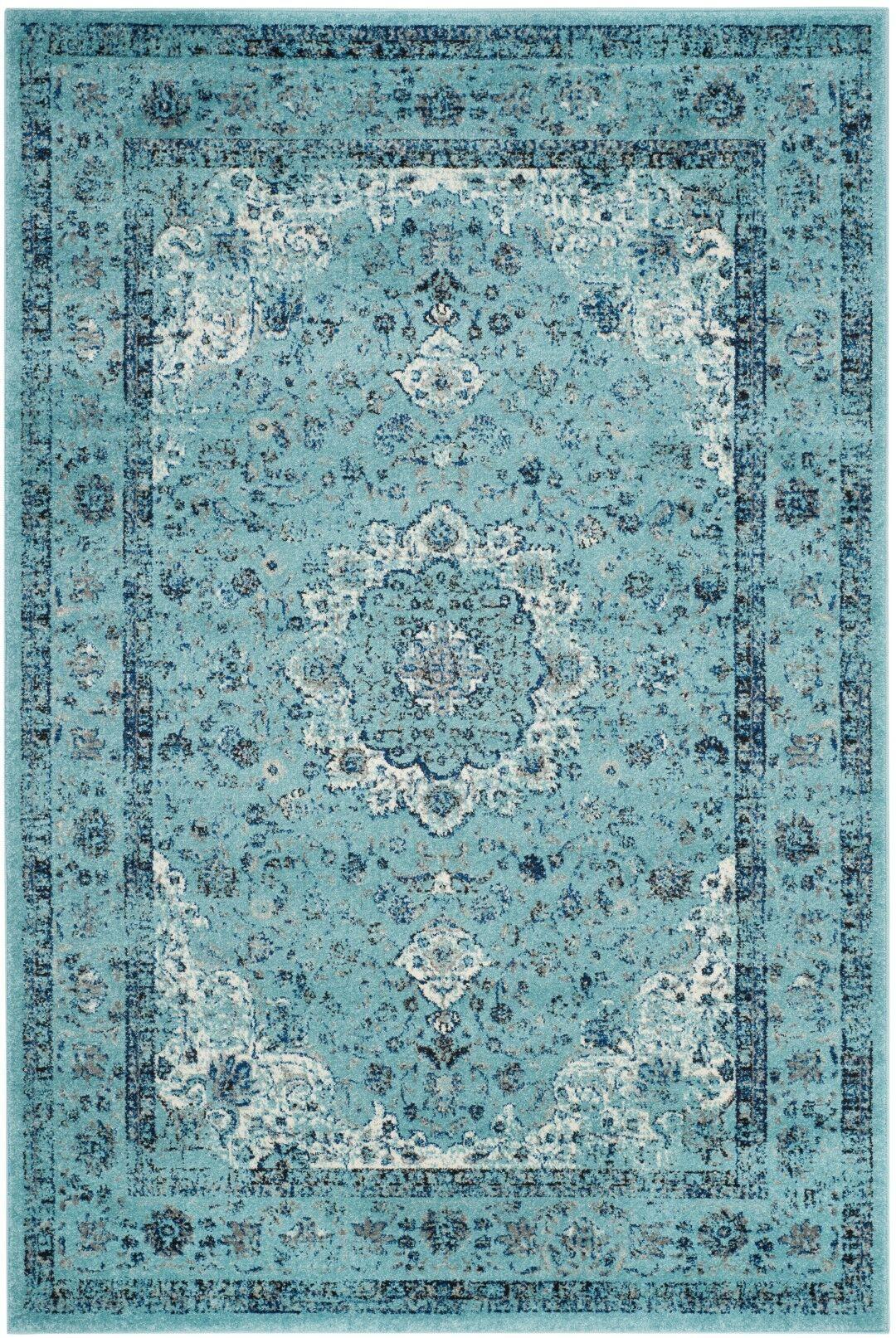 Centralia Light Blue Area Rug Rug Size: Rectangle 9' x 12'