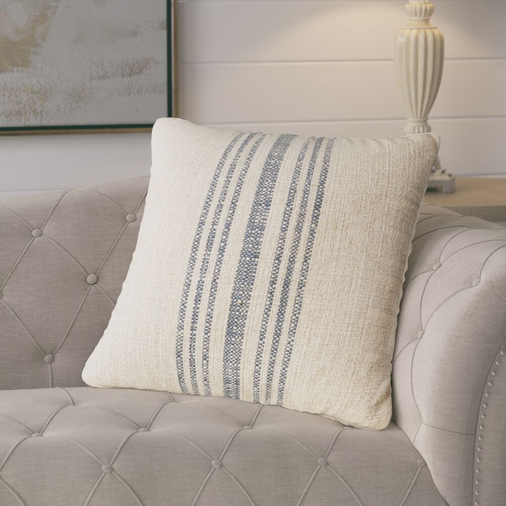 Linen Throw Pillow Color: Ivory, Size: 24