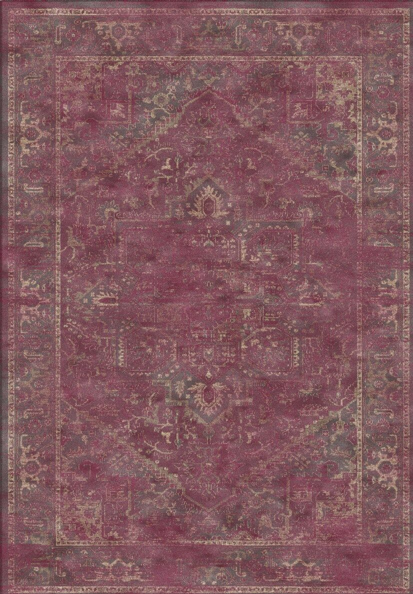 Meline Red Area Rug Rug Size: Rectangle 8'10