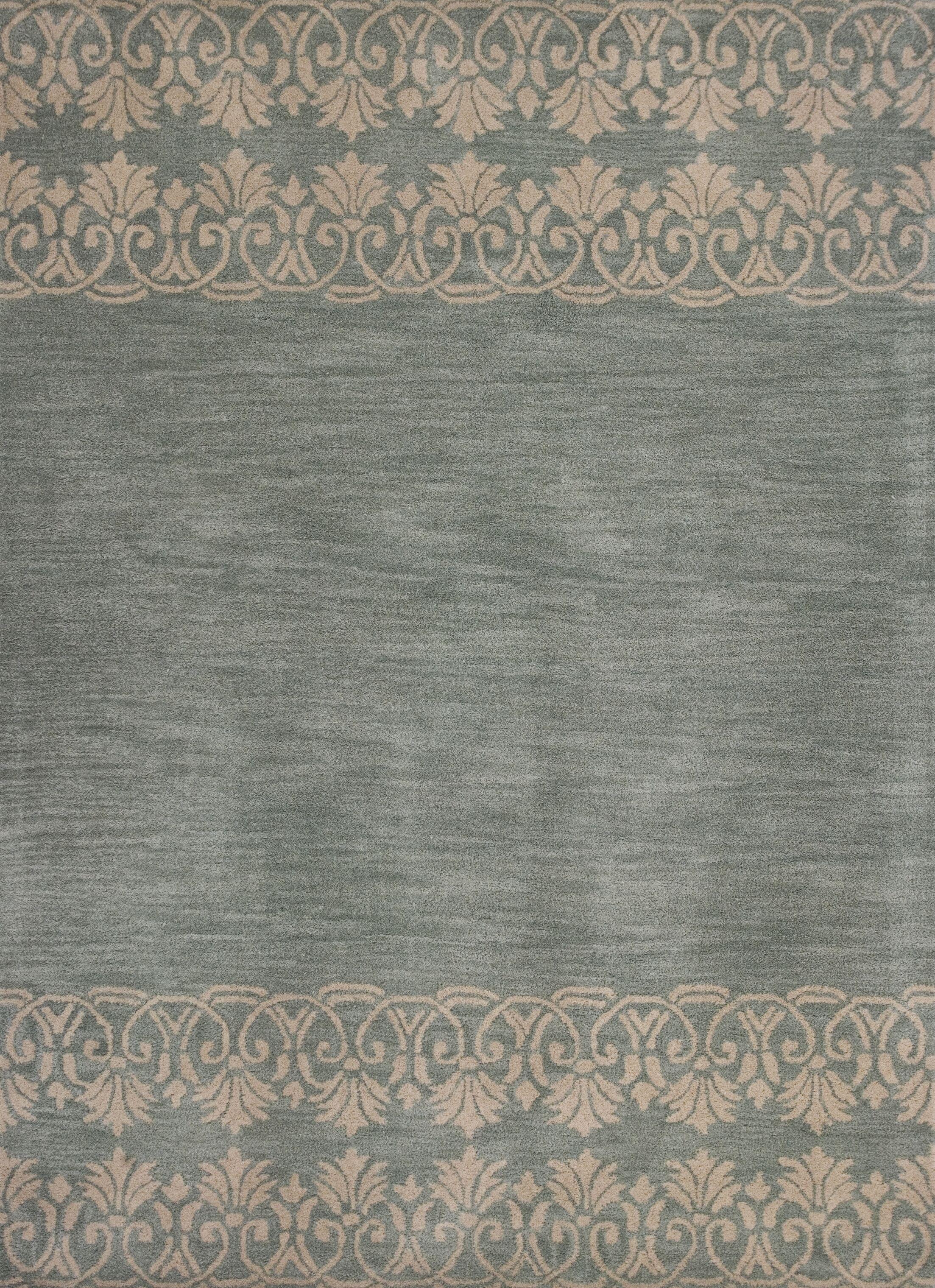 Albine Hand-Tufted Light Blue Area Rug Rug Size: 3'3