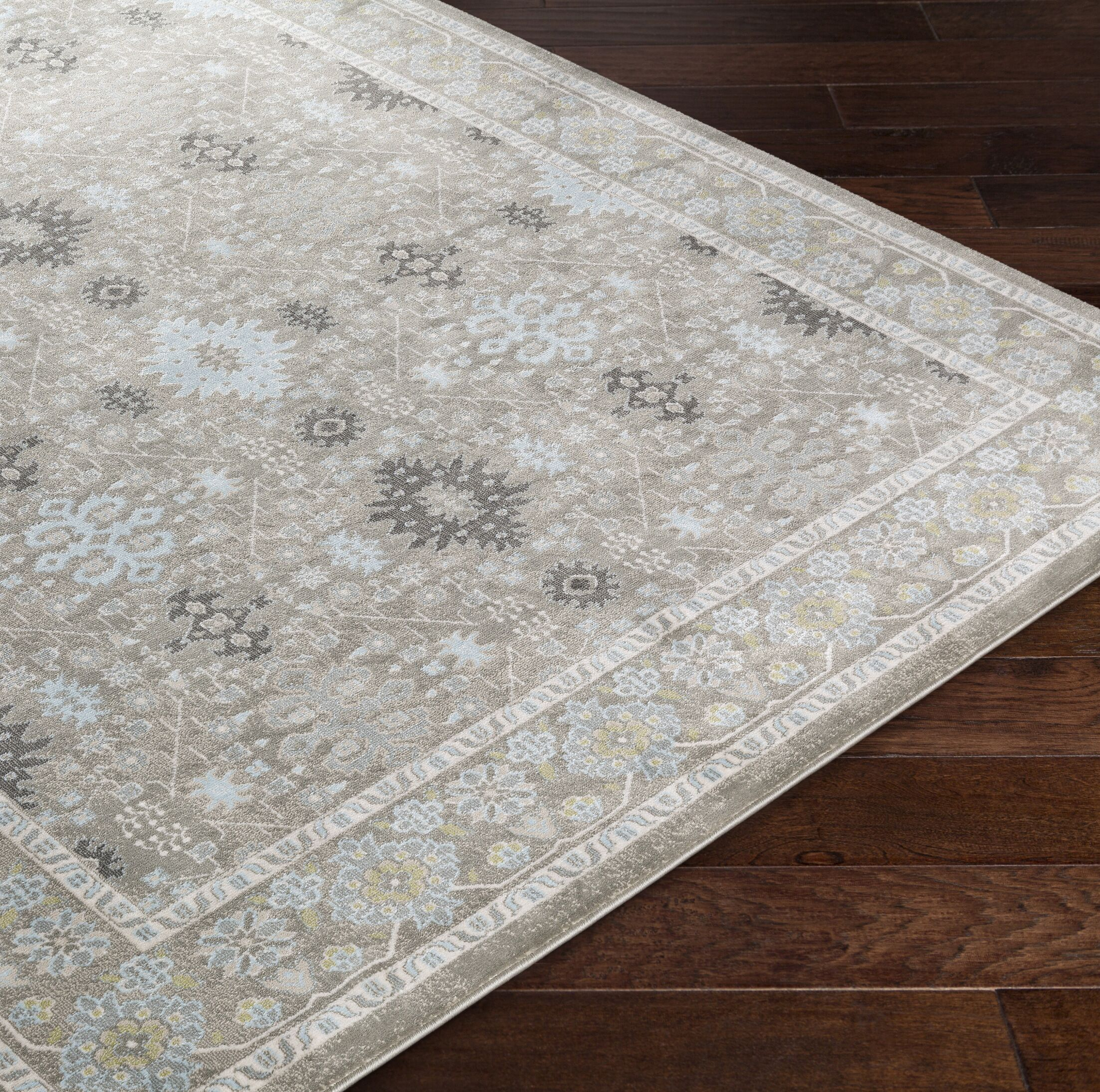 Riviere Gray/Green Area Rug Rug Size: Rectangle 5'2