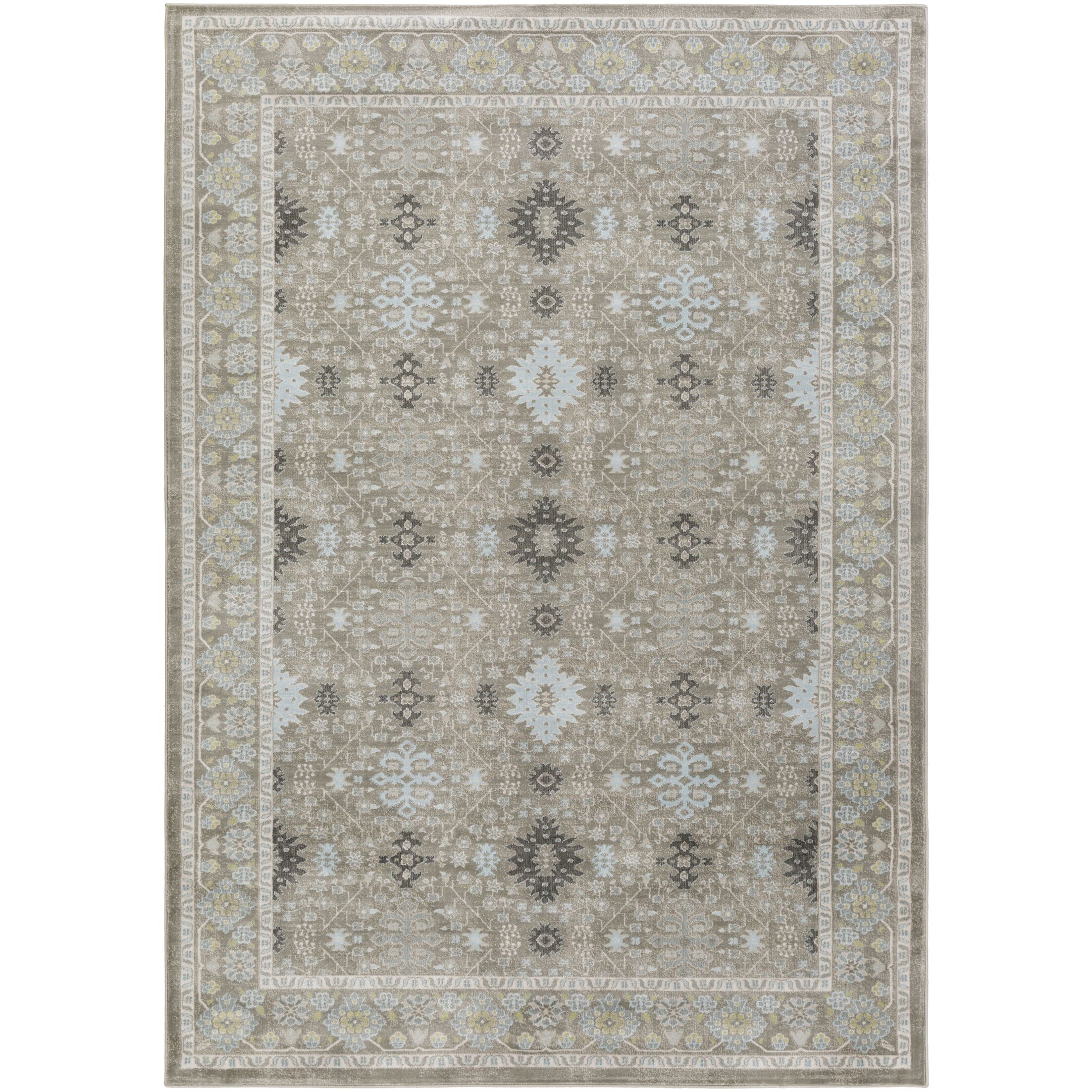 Riviere Gray/Green Area Rug Rug Size: Rectangle 7'10