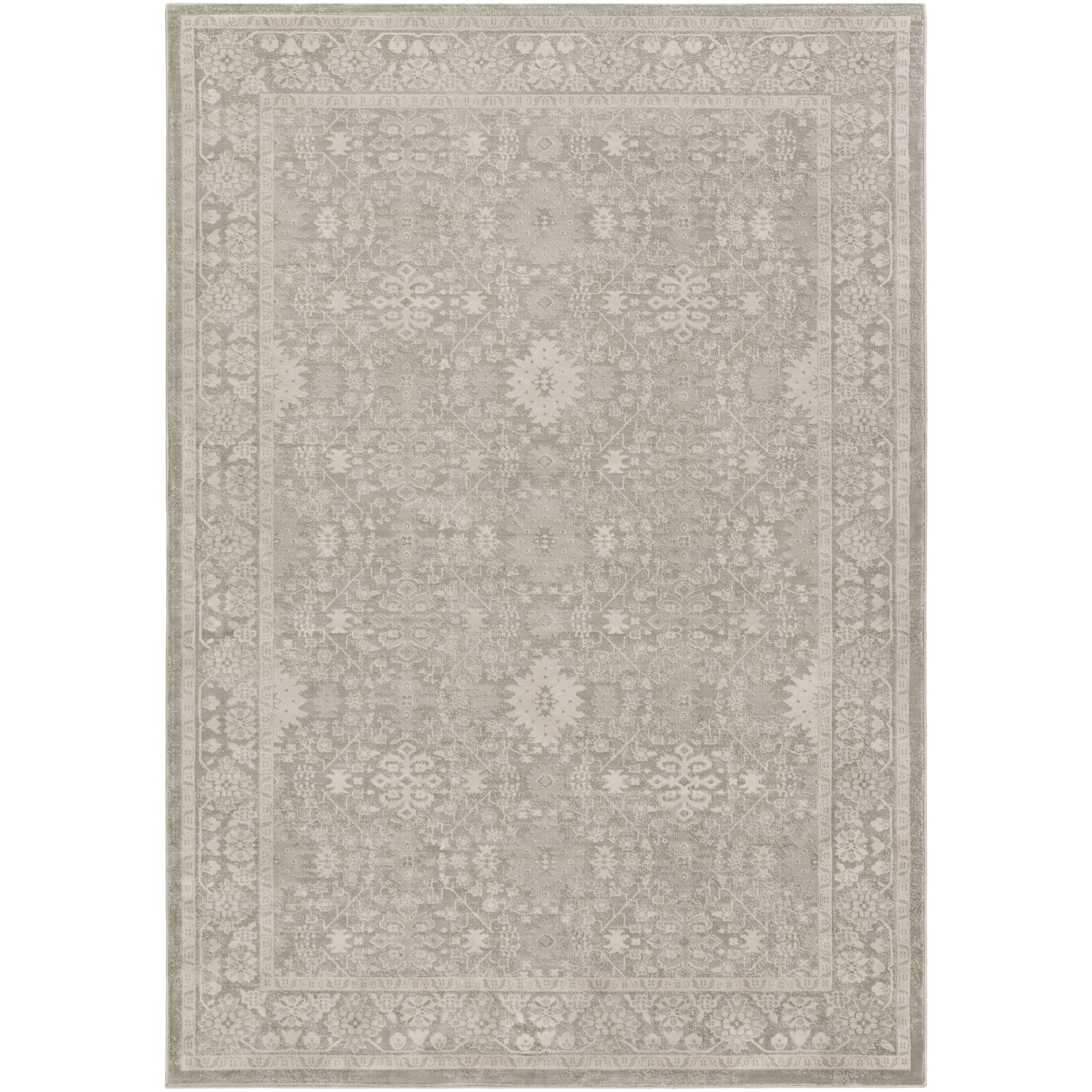 Riviere Gray/Ivory Area Rug Rug Size: Rectangle 2'2