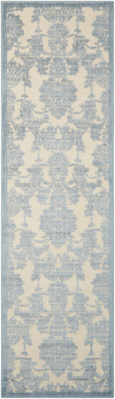 Bacourt Ivory/Light Blue Area Rug Rug Size: Rectangle 7'9