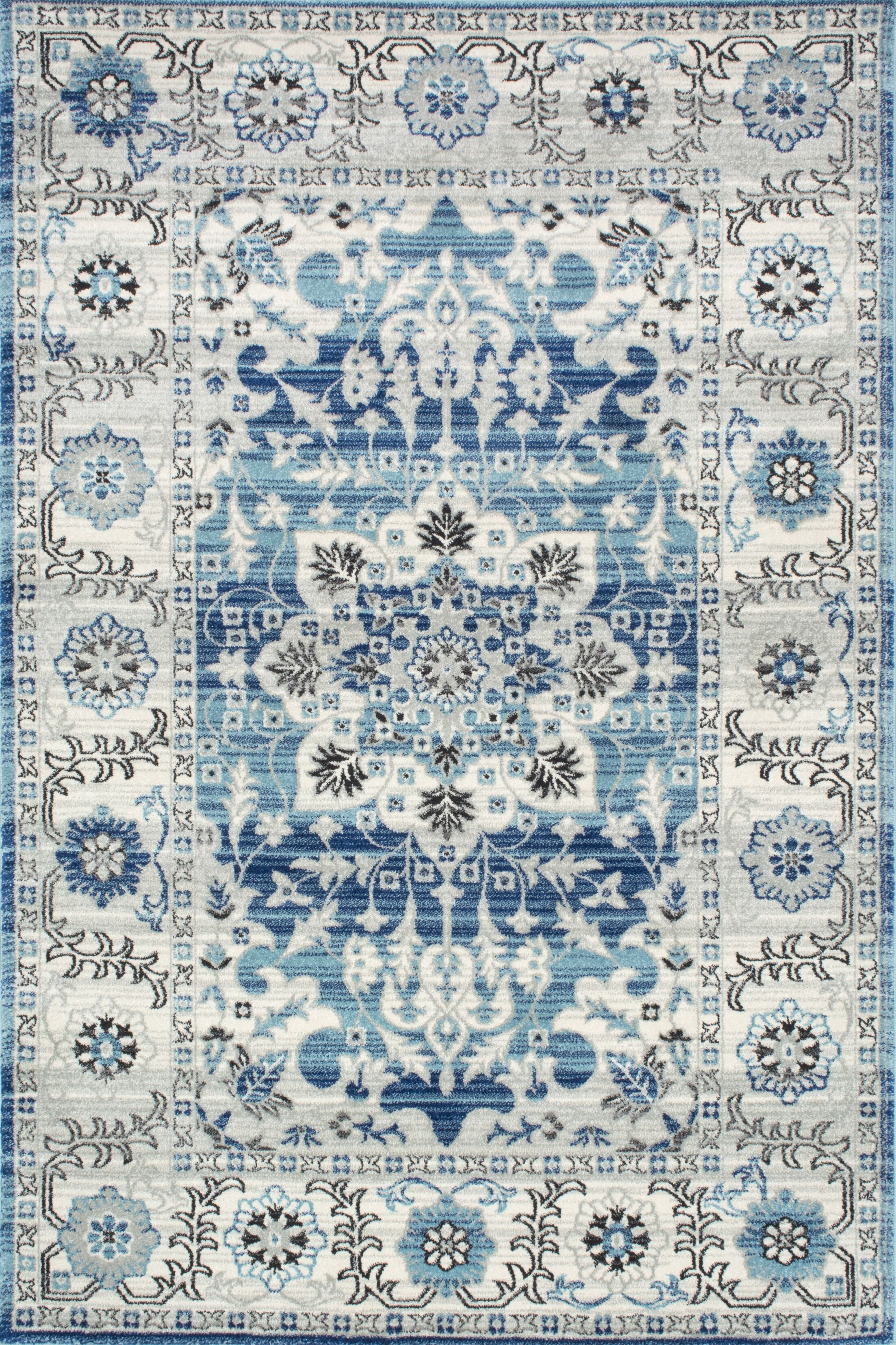 Ashcraft Blue Area Rug Rug Size: Rectangle 6'7
