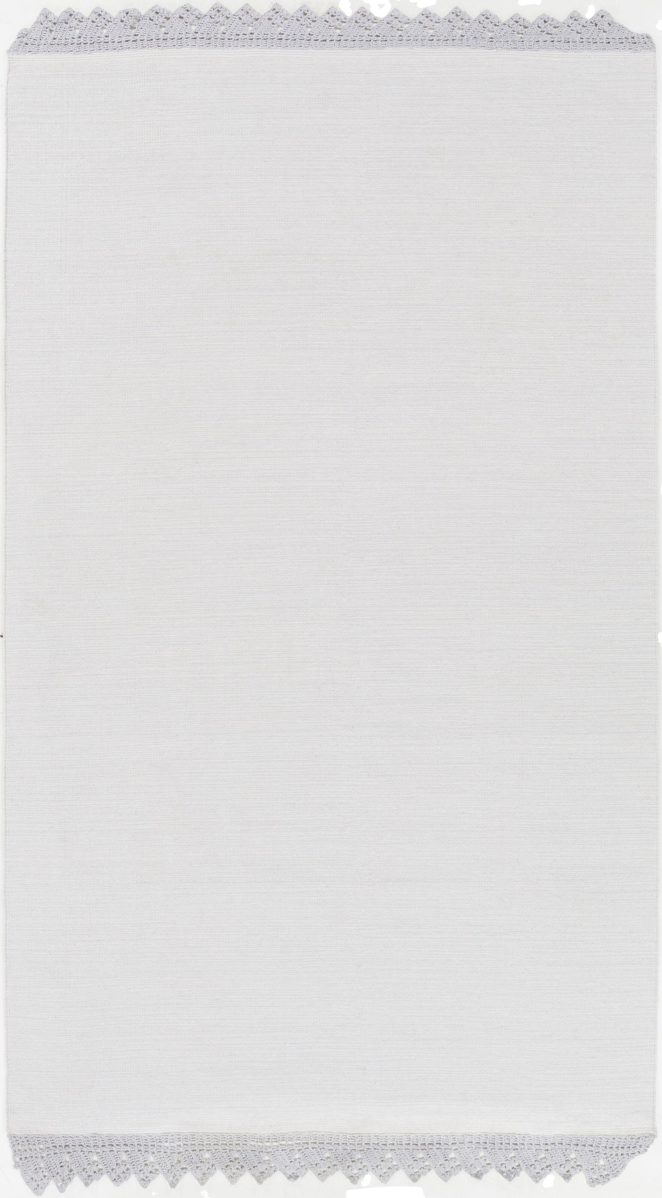 Nicol Hand Woven Cotton Light Gray Area Rug Rug Size: Rectangle 8' x 10'