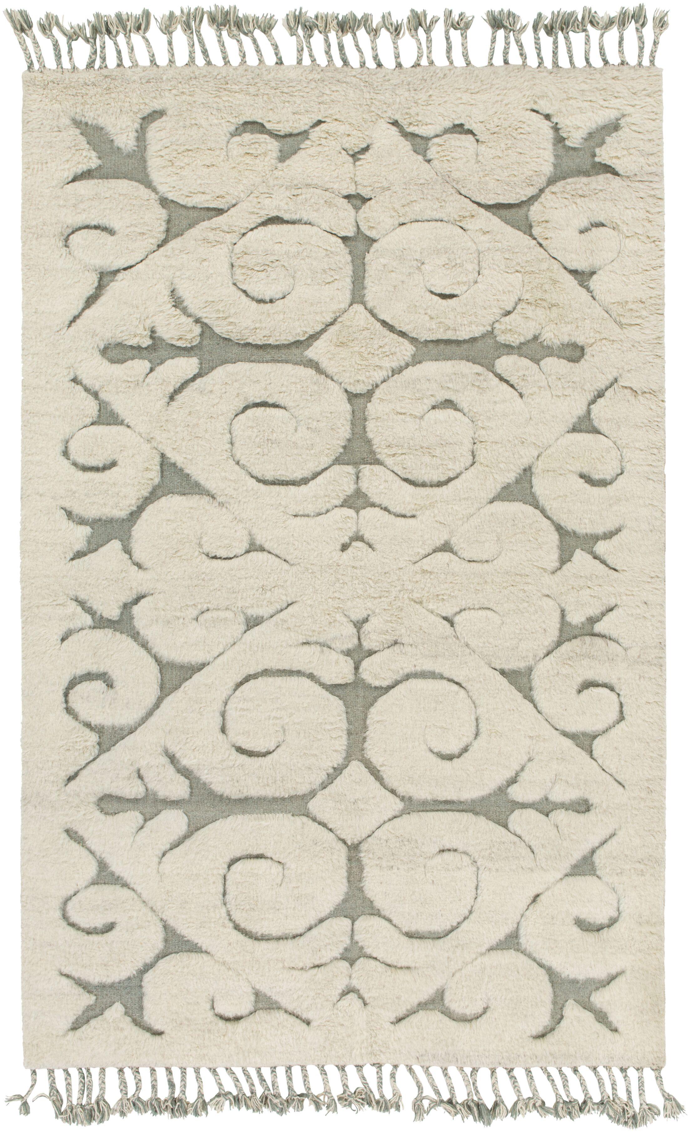 Isobel Light Gray Area Rug Rug Size: Rectangle 4' x 6'