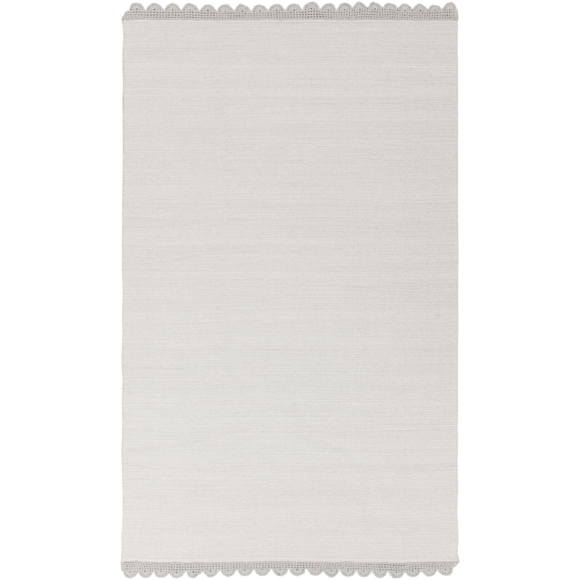 Nicol Hand-Woven Light Gray Area Rug Rug Size: Rectangle 8' x 10'