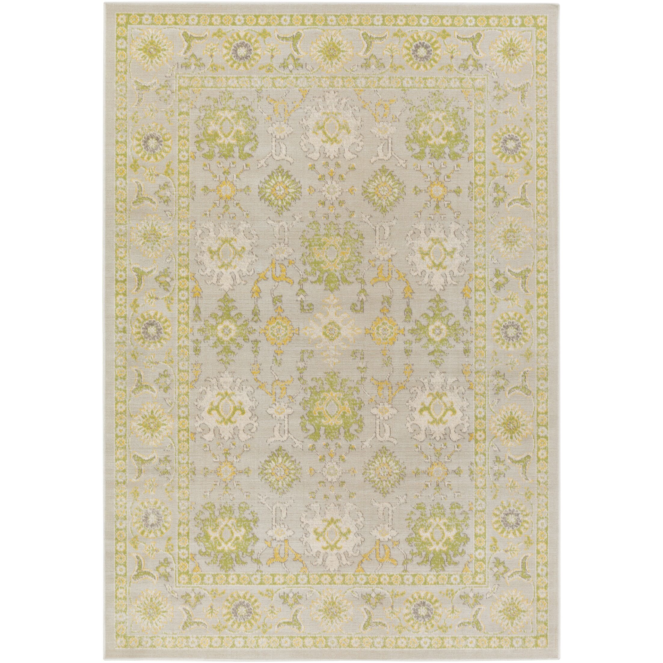Velay Gray/Green Area Rug Rug Size: Rectangle 6'9