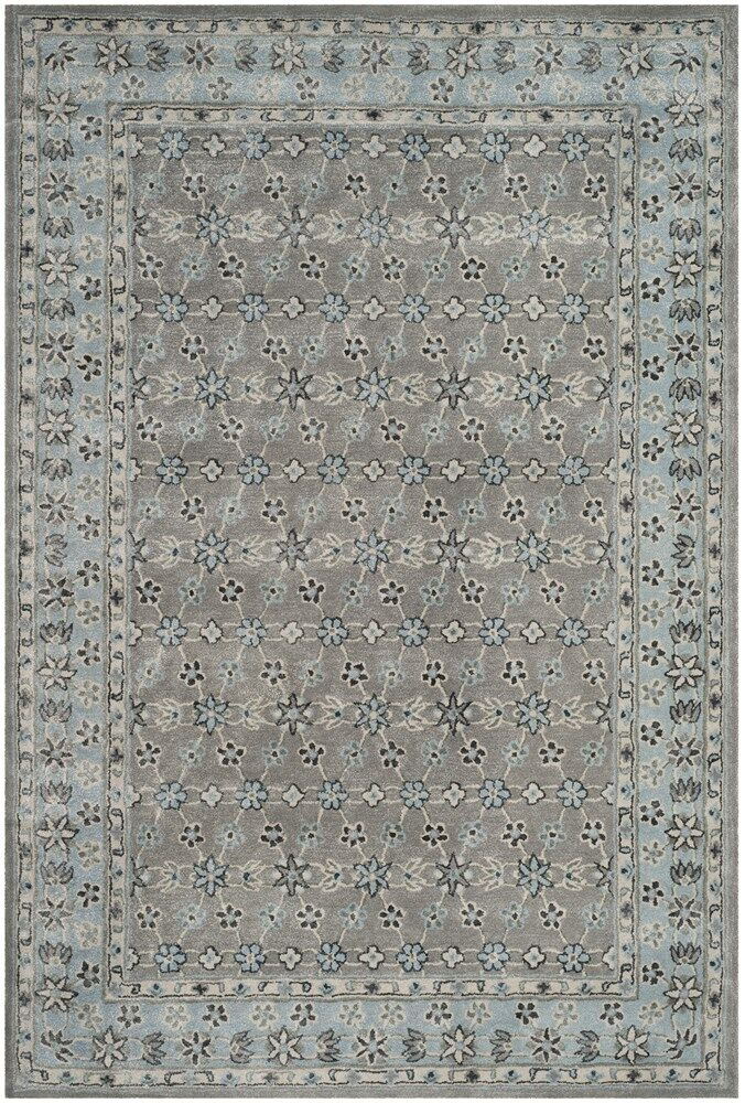 Blassingame Hand-Tufted Gray Area Rug Rug Size: 5' x 8'