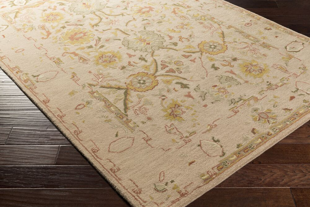 Ivan Hand-Tufted Oriental Taupe Wool Area Rug Rug Size: Runner 2'6