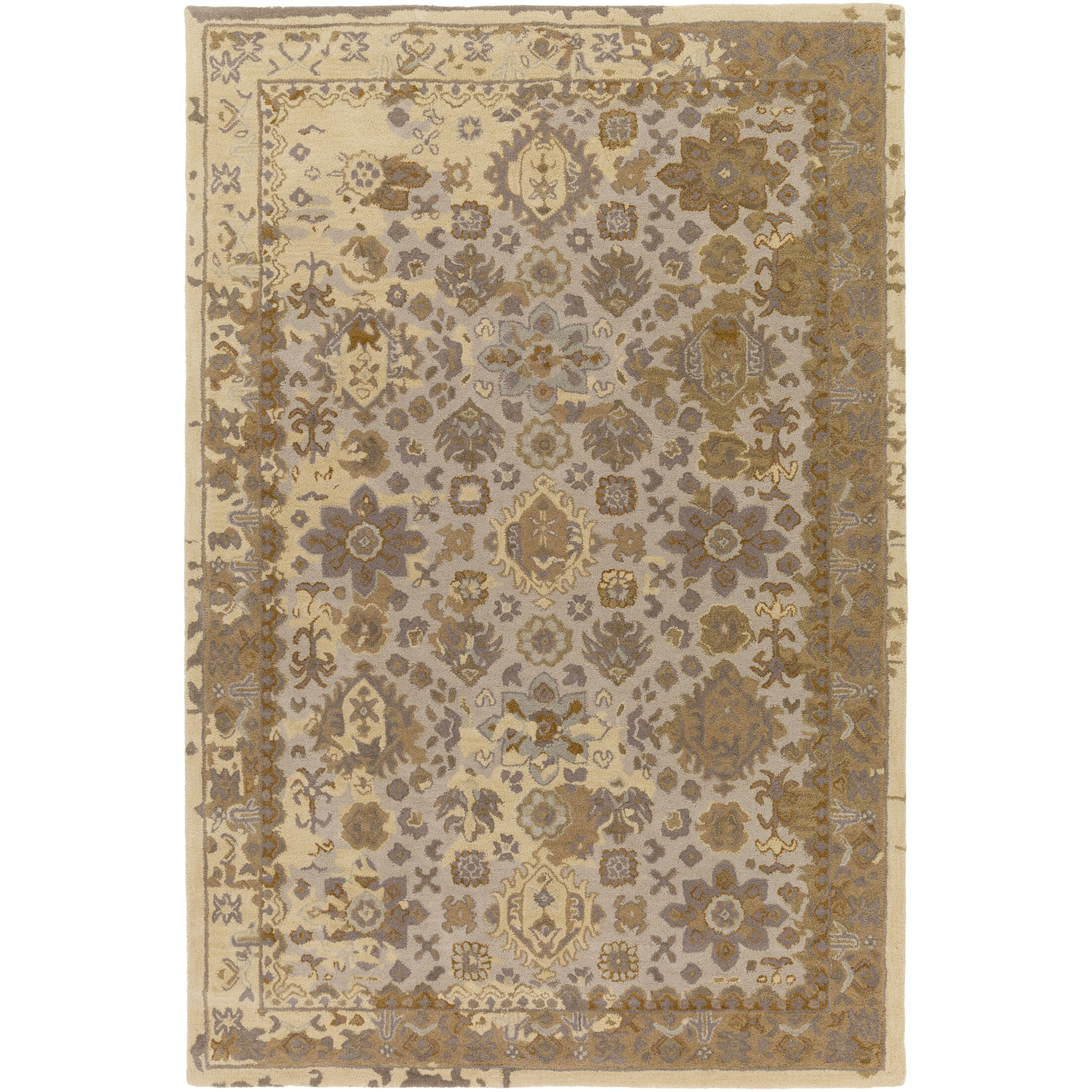 Ivan Hand-Tufted Tan Wool Area Rug Rug Size: Rectangle 4' x 6'