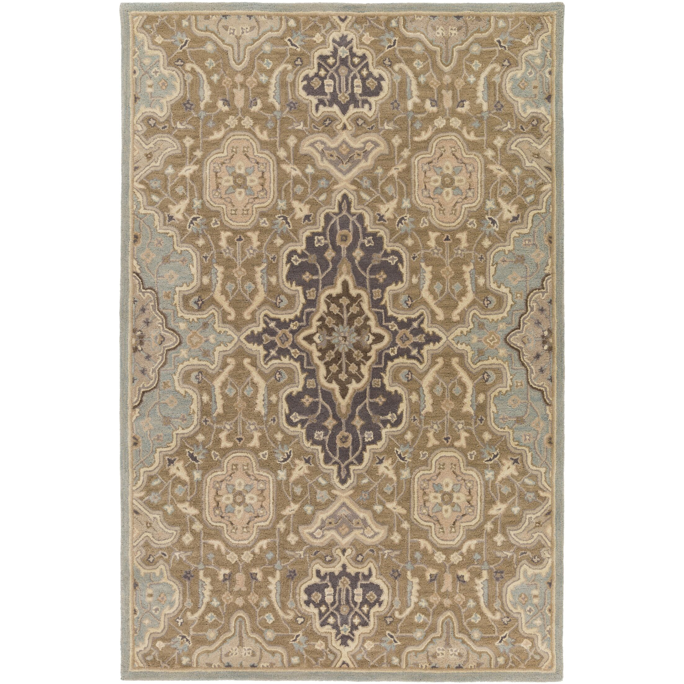 Ivan Hand-Tufted Oriental Taupe Area Rug Rug Size: Rectangle 5' x 7'6