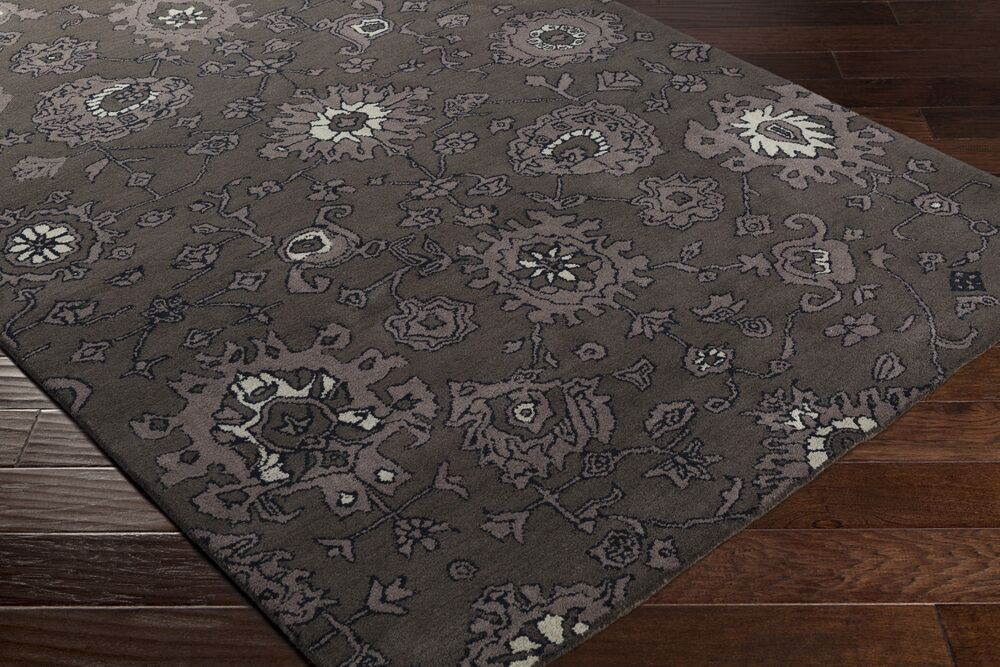 Ivan Hand-Tufted Taupe/Black Area Rug Rug Size: Rectangle 9' x 13'