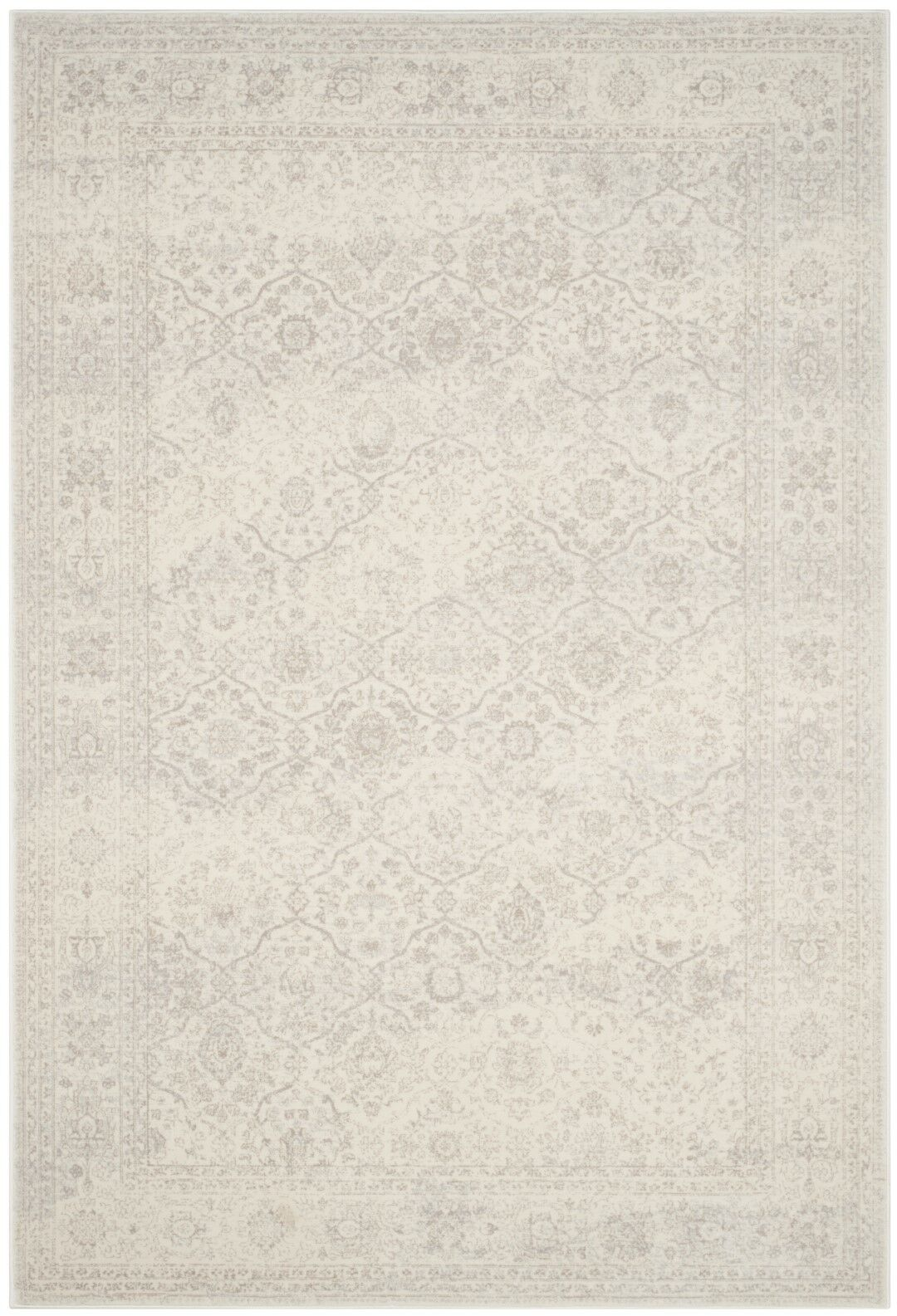 Akron Creek Cream/Light Gray Area Rug Rug Size: Rectangle 8' x 10'