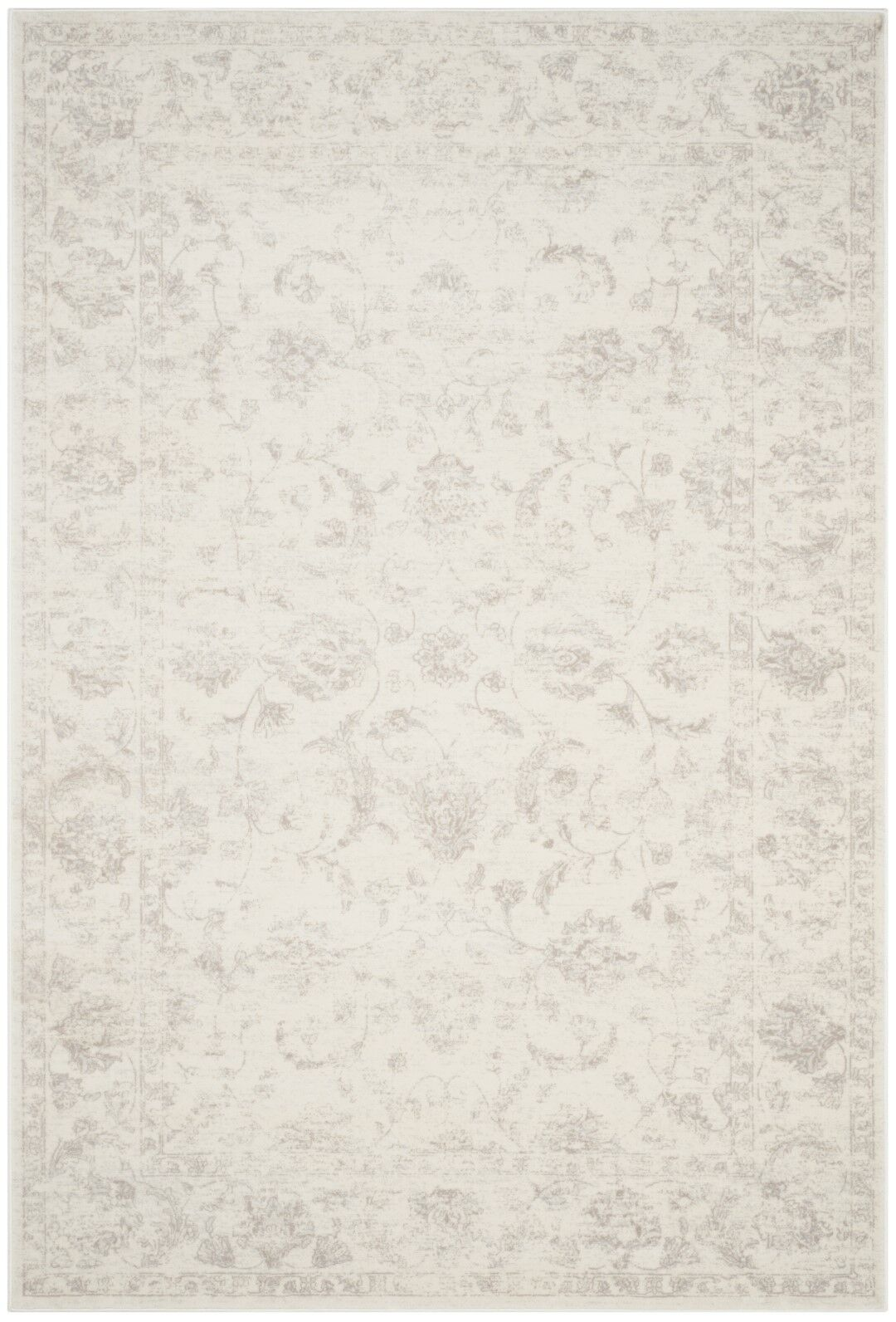 Akron Creek Cream/Light Gray Area Rug Rug Size: Rectangle 9' x 12'