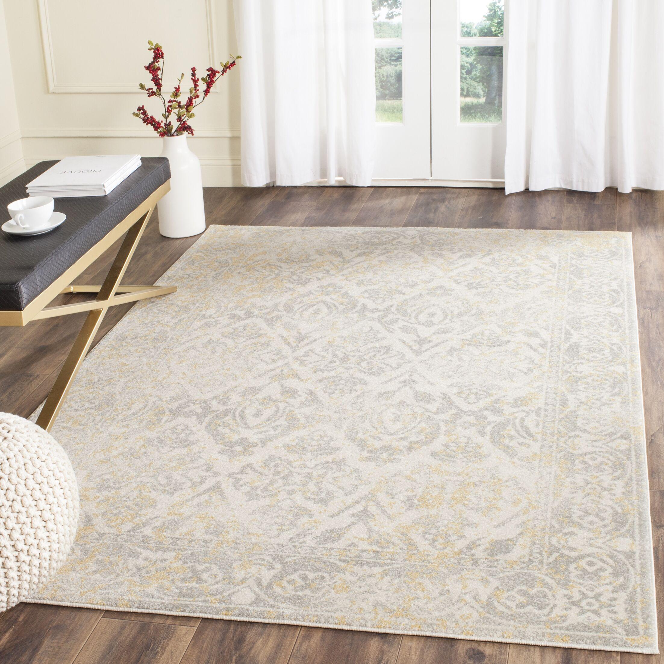 Montelimar Ivory/Grey Area Rug Rug Size: Rectangle 8' x 10'