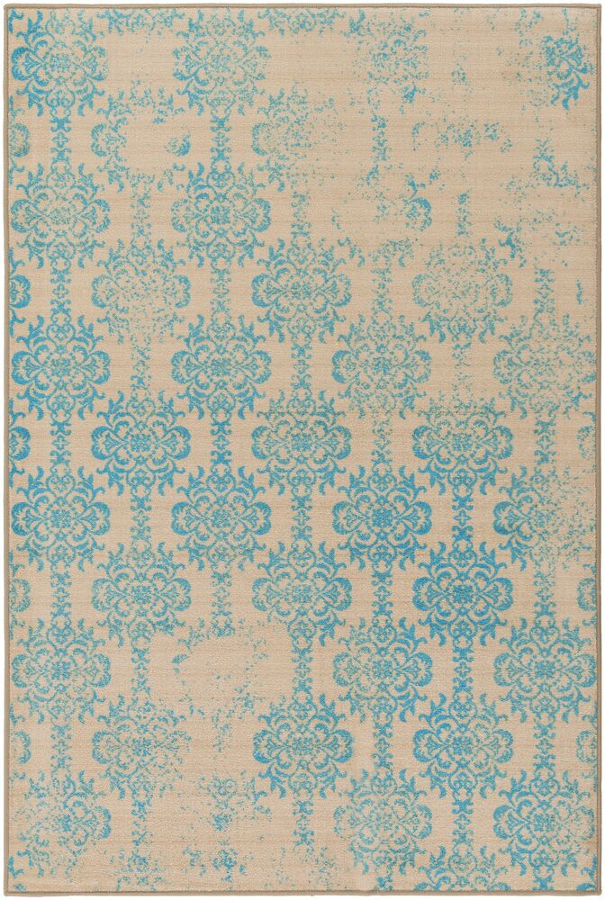 Cassie Beige/Blue Area Rug Rug Size: Rectangle 5' x 8'