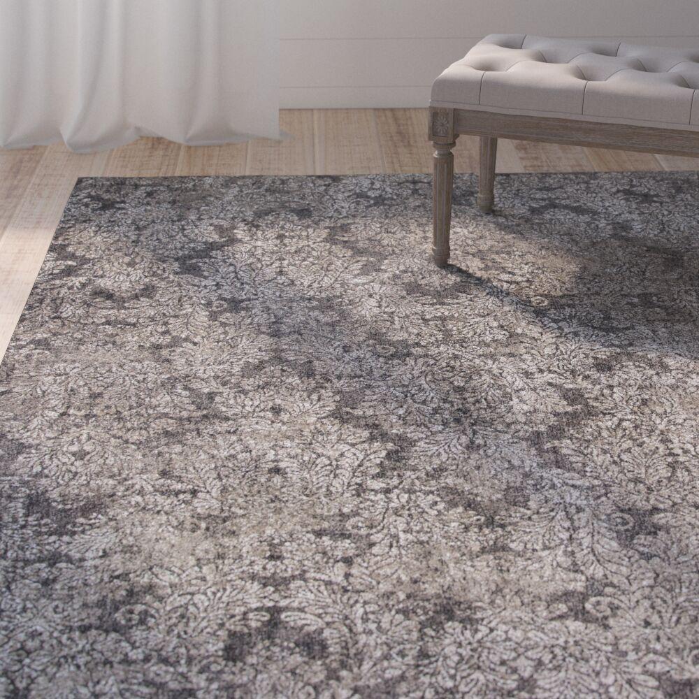 Benoit Taupe/Sand Area Rug Rug Size: 7'10