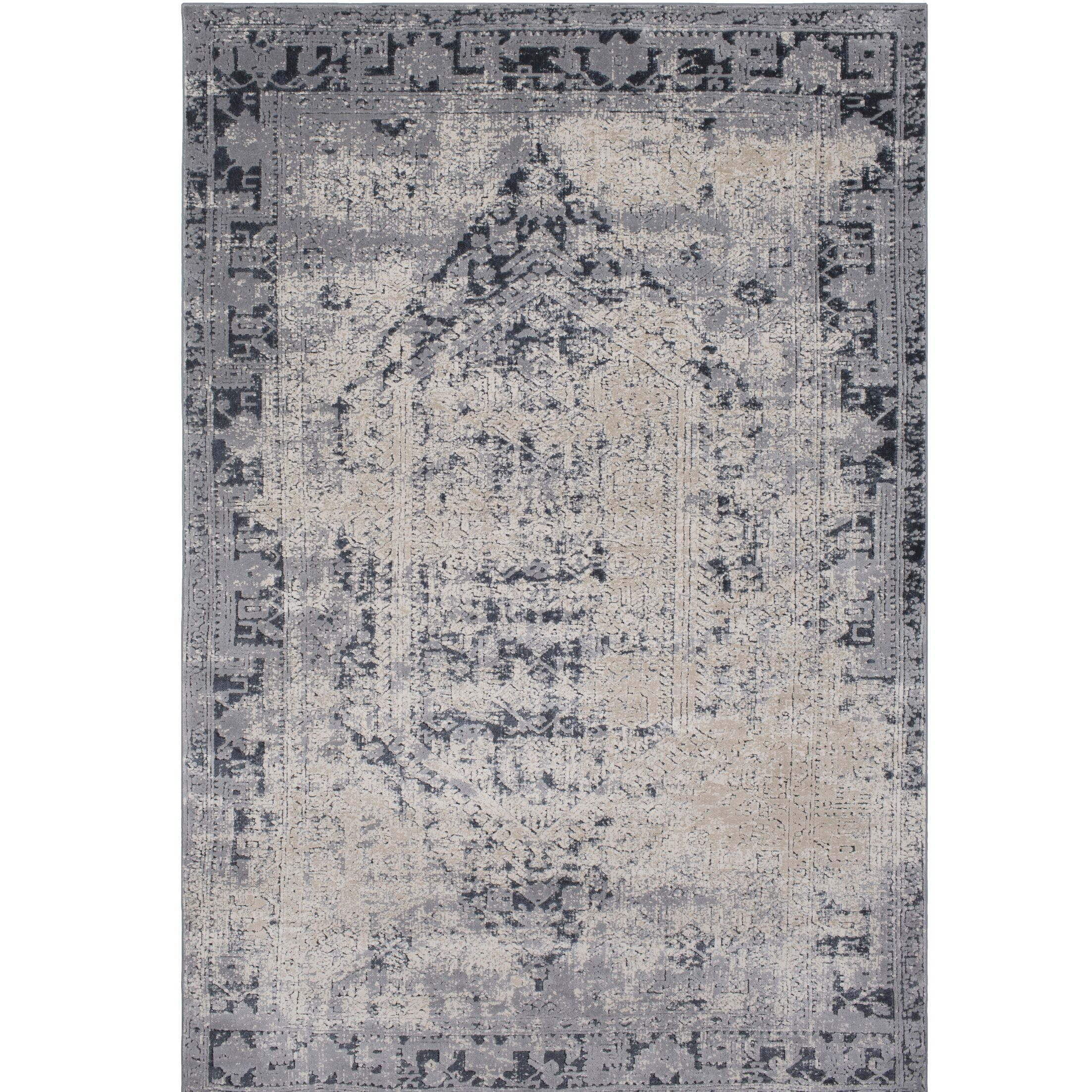 Hummell Rectangle Gray Area Rug Rug Size: Rectangle 6'7