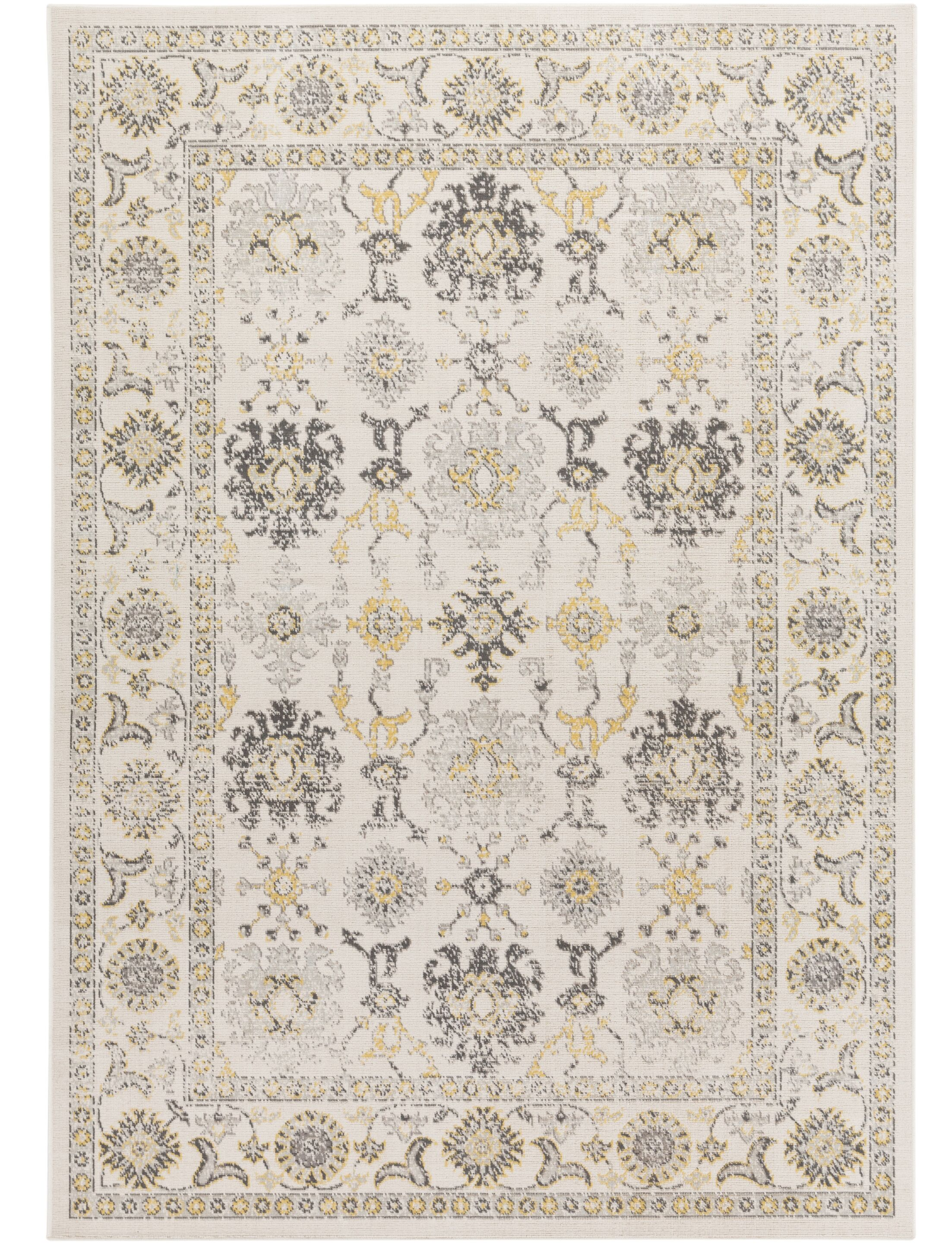 Velay Beige Area Rug Rug Size: Rectangle 5'4