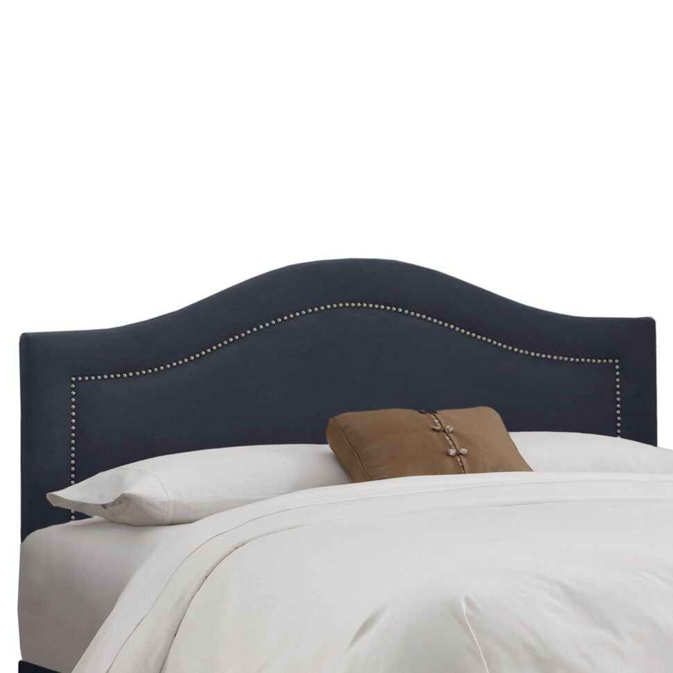 Ophiuchi Upholstered Panel Headboard Upholstery: Regal Navy, Size: Queen