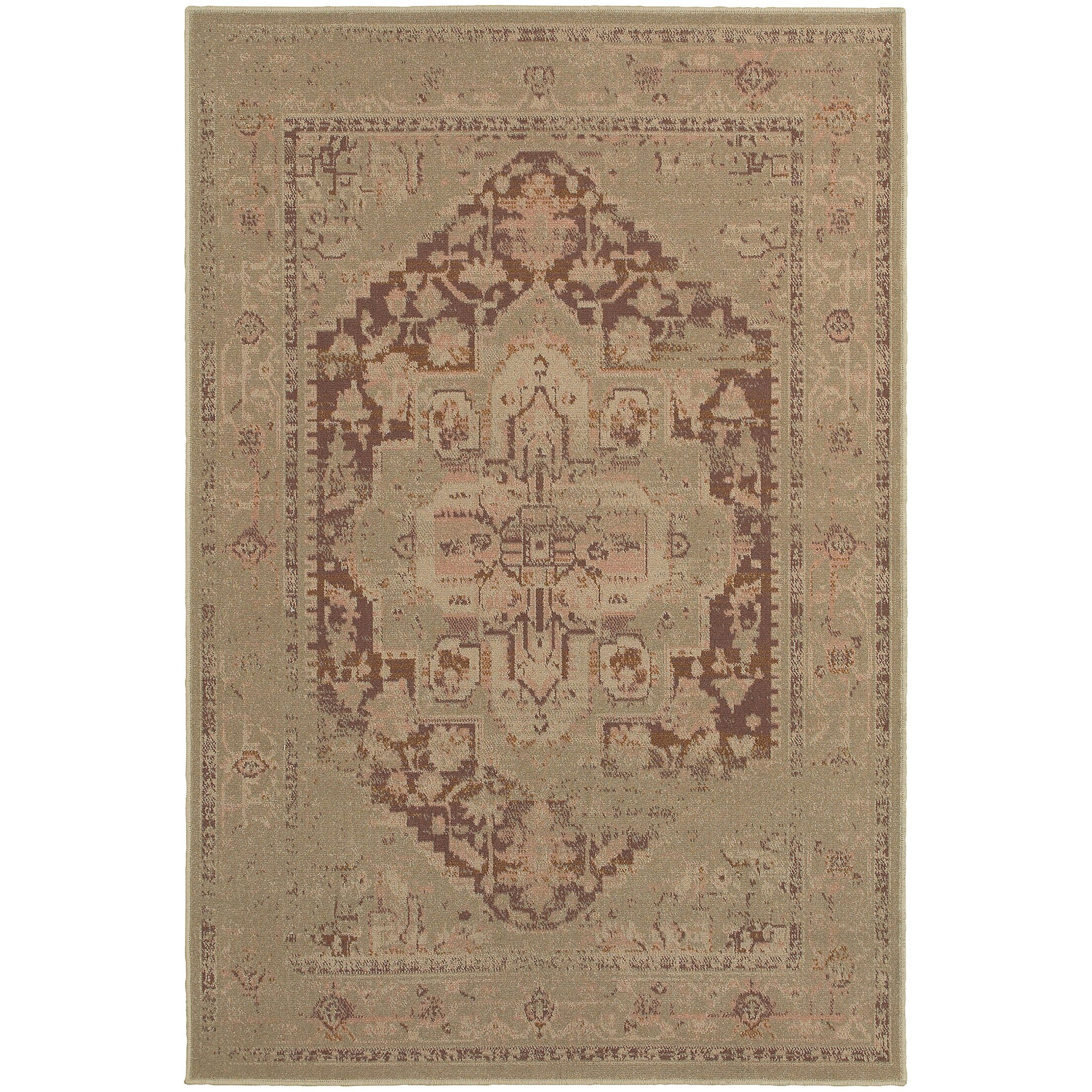 Albertina Beige/Pink Area Rug Rug Size: Rectangle 6'7