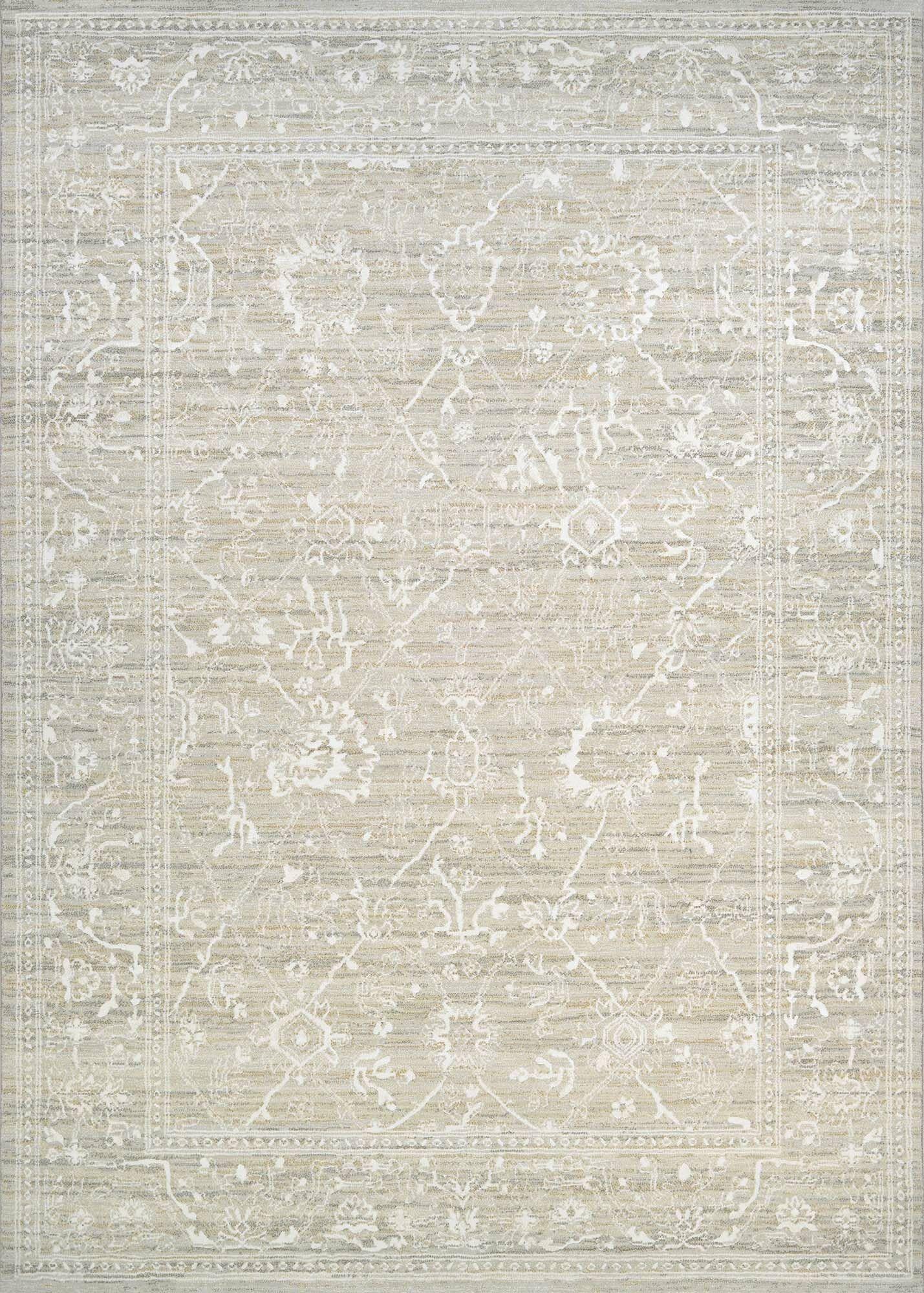 Alison Persian Arabesque Bone Area Rug Rug Size: Rectangle 3'11