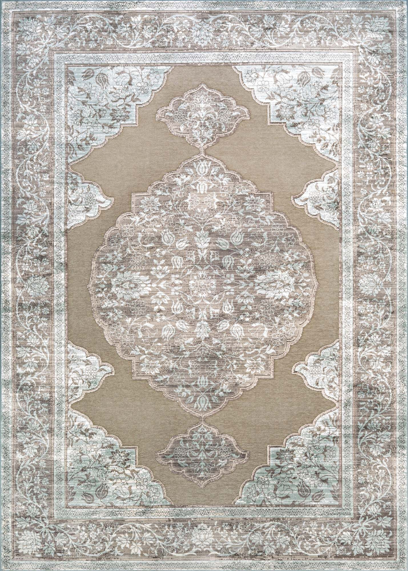 Amethyst Brown/Gray Area Rug Rug Size: Runner 2'7