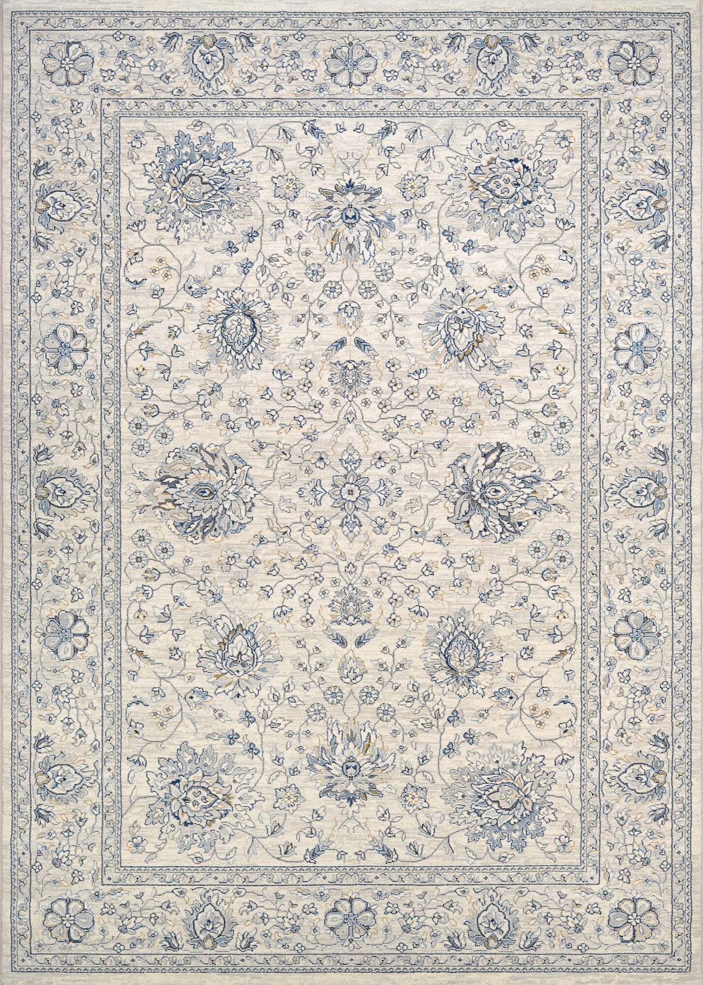 Johnston Isfahan Handmade Antique Cream Area Rug Rug Size: Rectangle 7'10