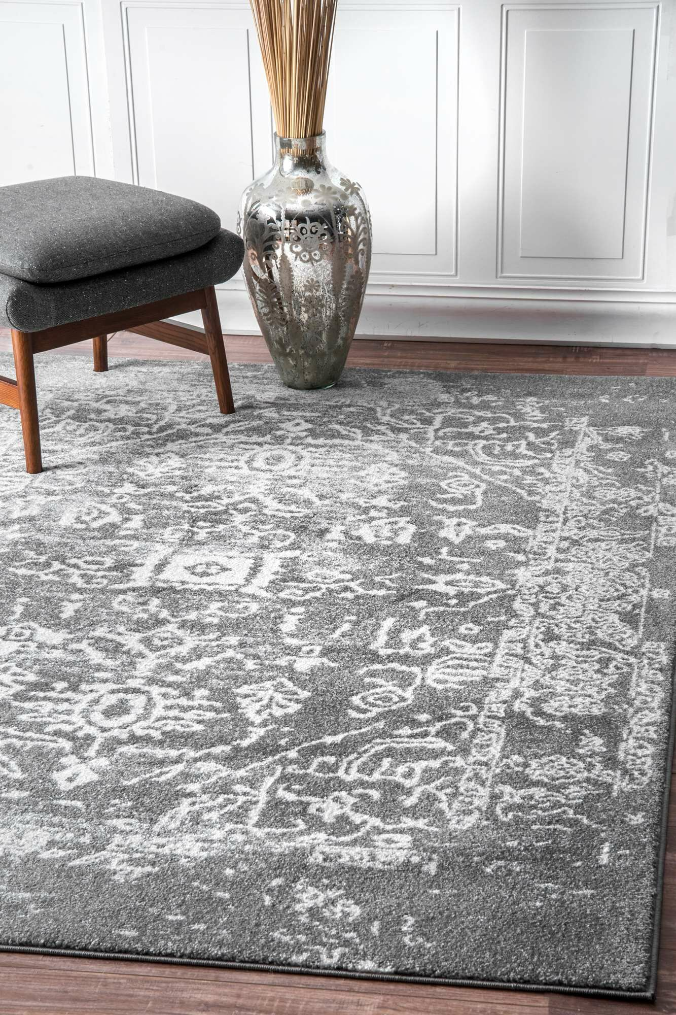 Hurst Charcoal Area Rug Rug Size: Rectangle 9' x 12'
