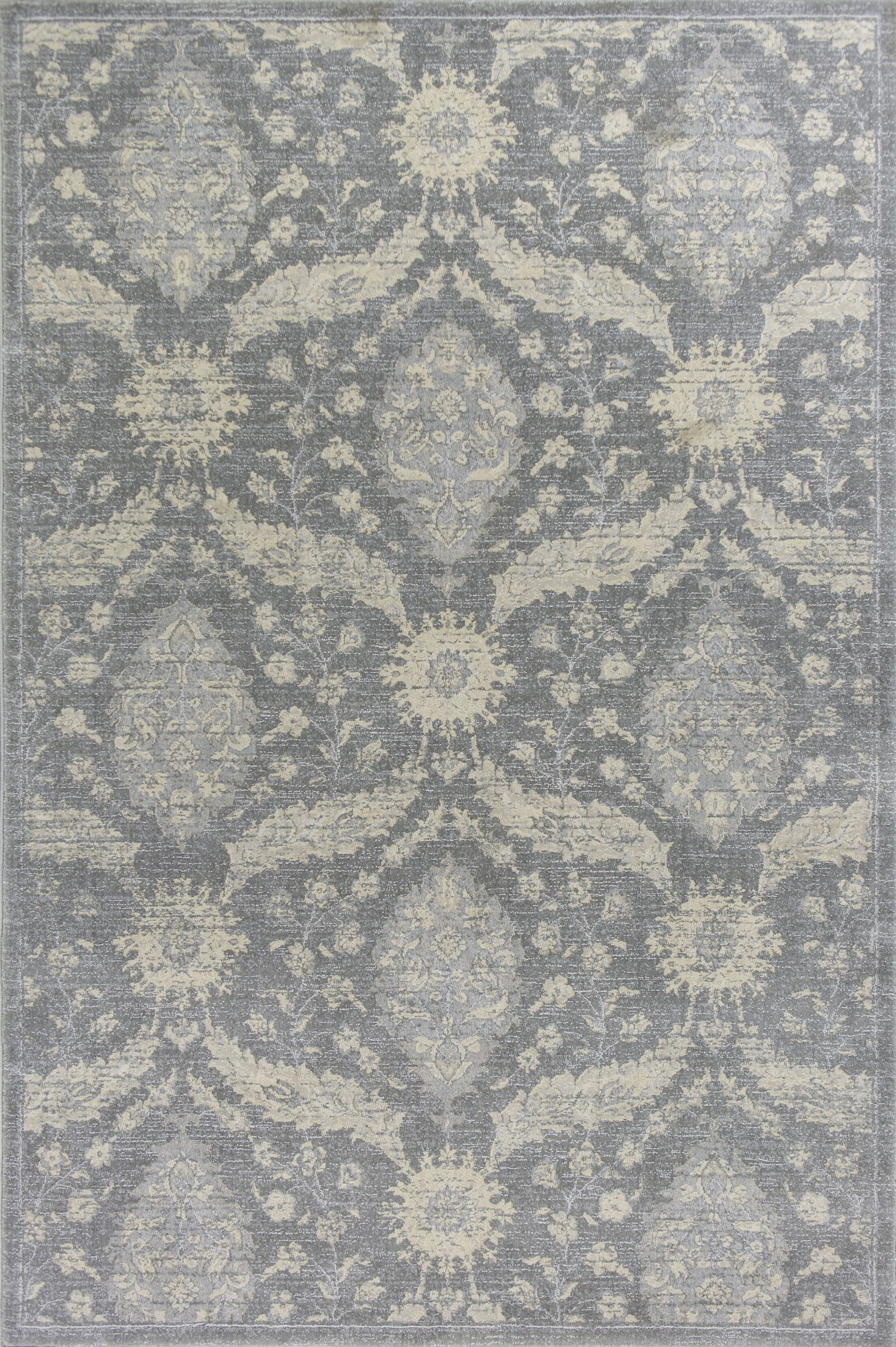 Pattison Gray Area Rug Rug Size: Rectangle 5'3