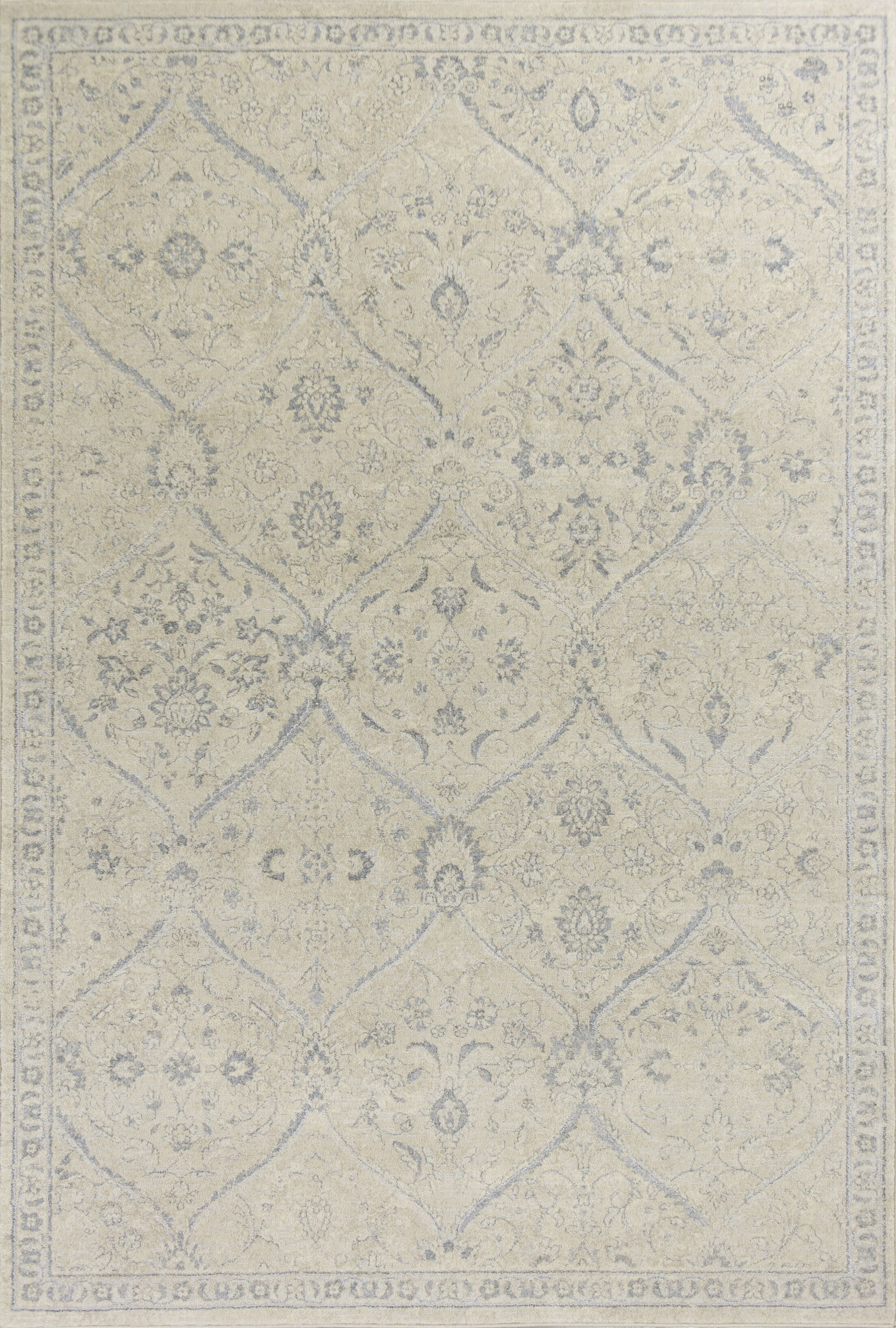 Pattison Beige Area Rug Rug Size: Rectangle 5'3