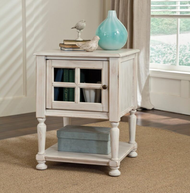 Bezons End Table With Storage Color: Off-White