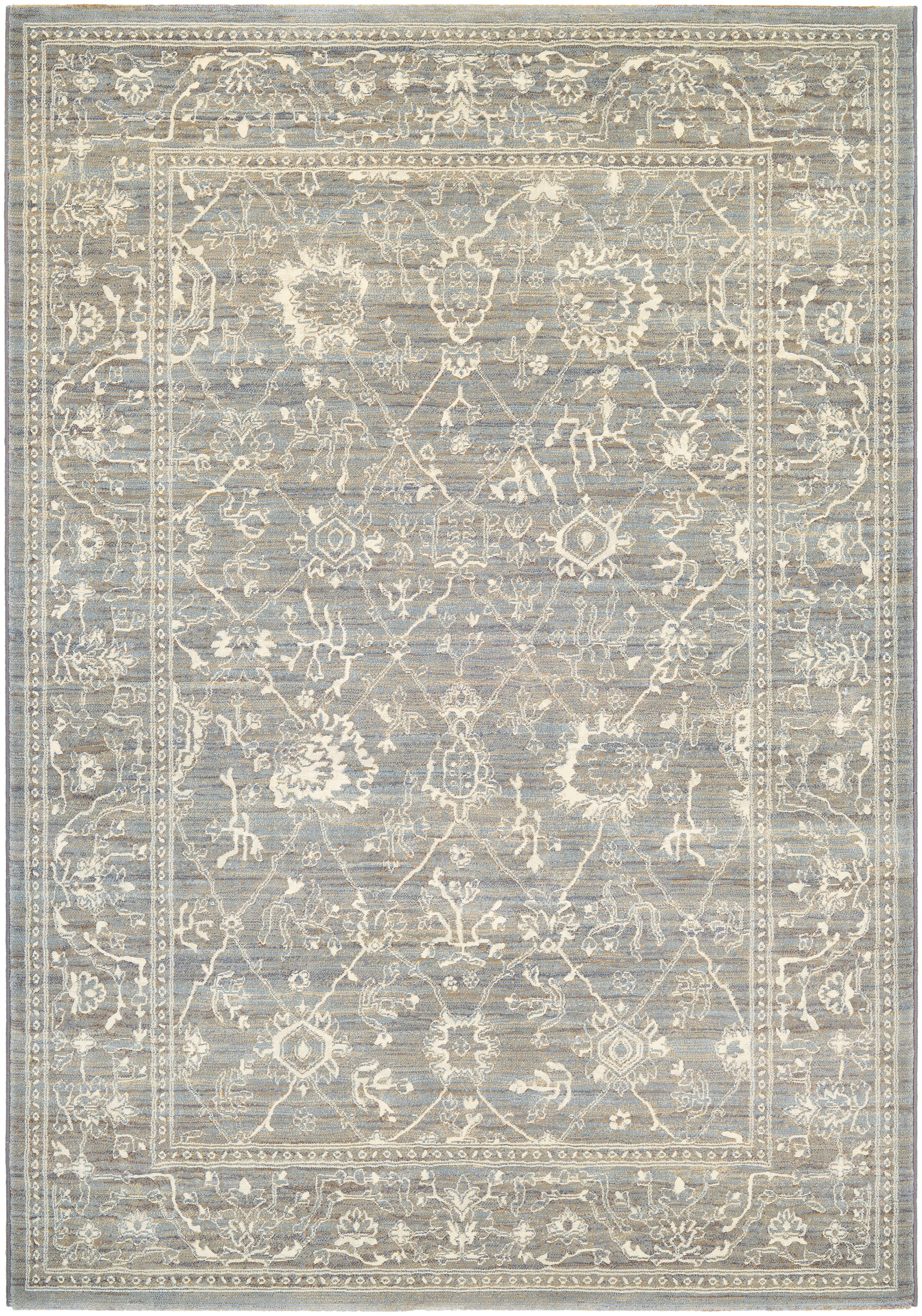 Alison Persian Arabesque Gray/Cream Area Rug Rug Size: Rectangle 3'11