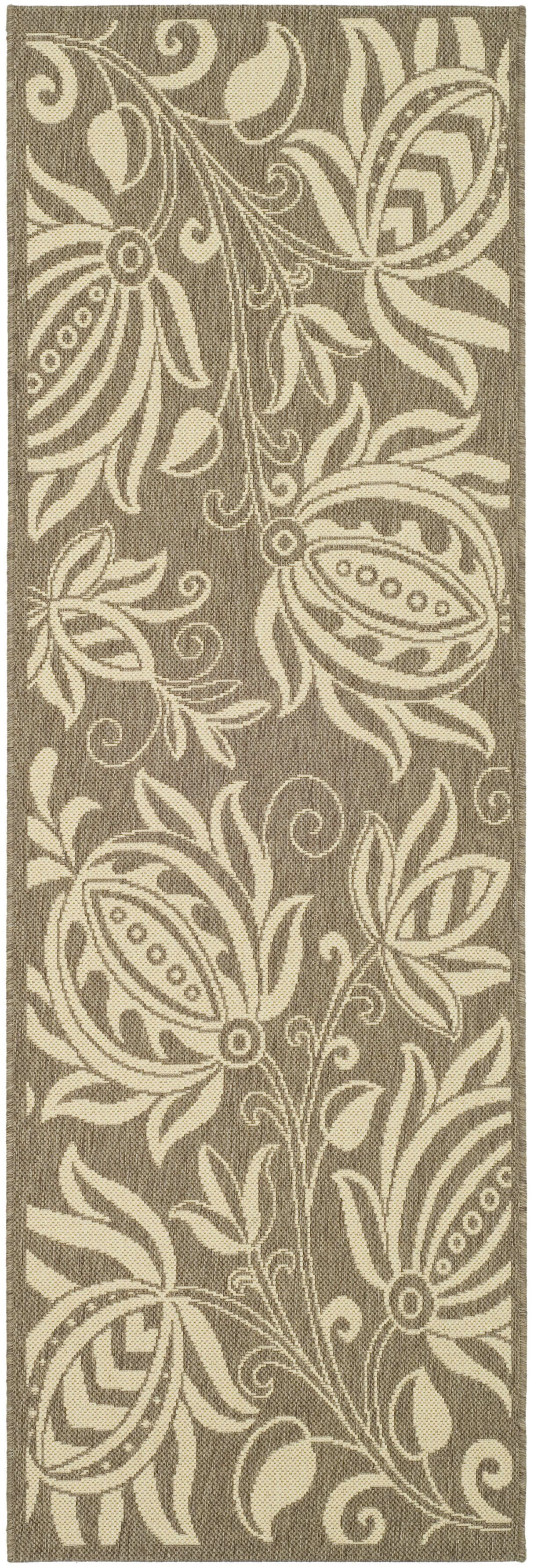 Marcella Brown & Natural Outdoor Area Rug Rug Size: Runner 2'4