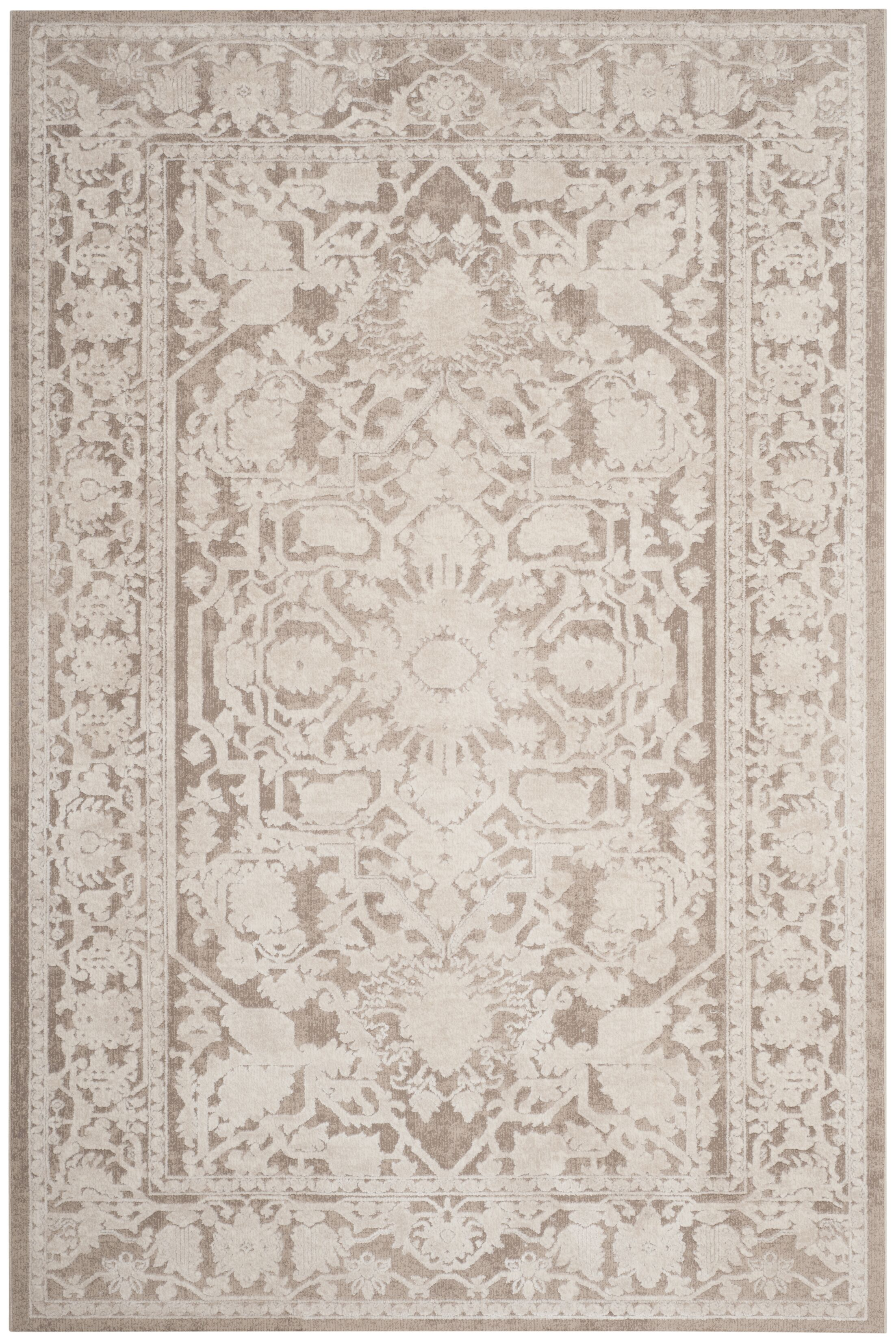 Pellot Dark Beige/Cream Area Rug Rug Size: Rectangle 8' x 10'