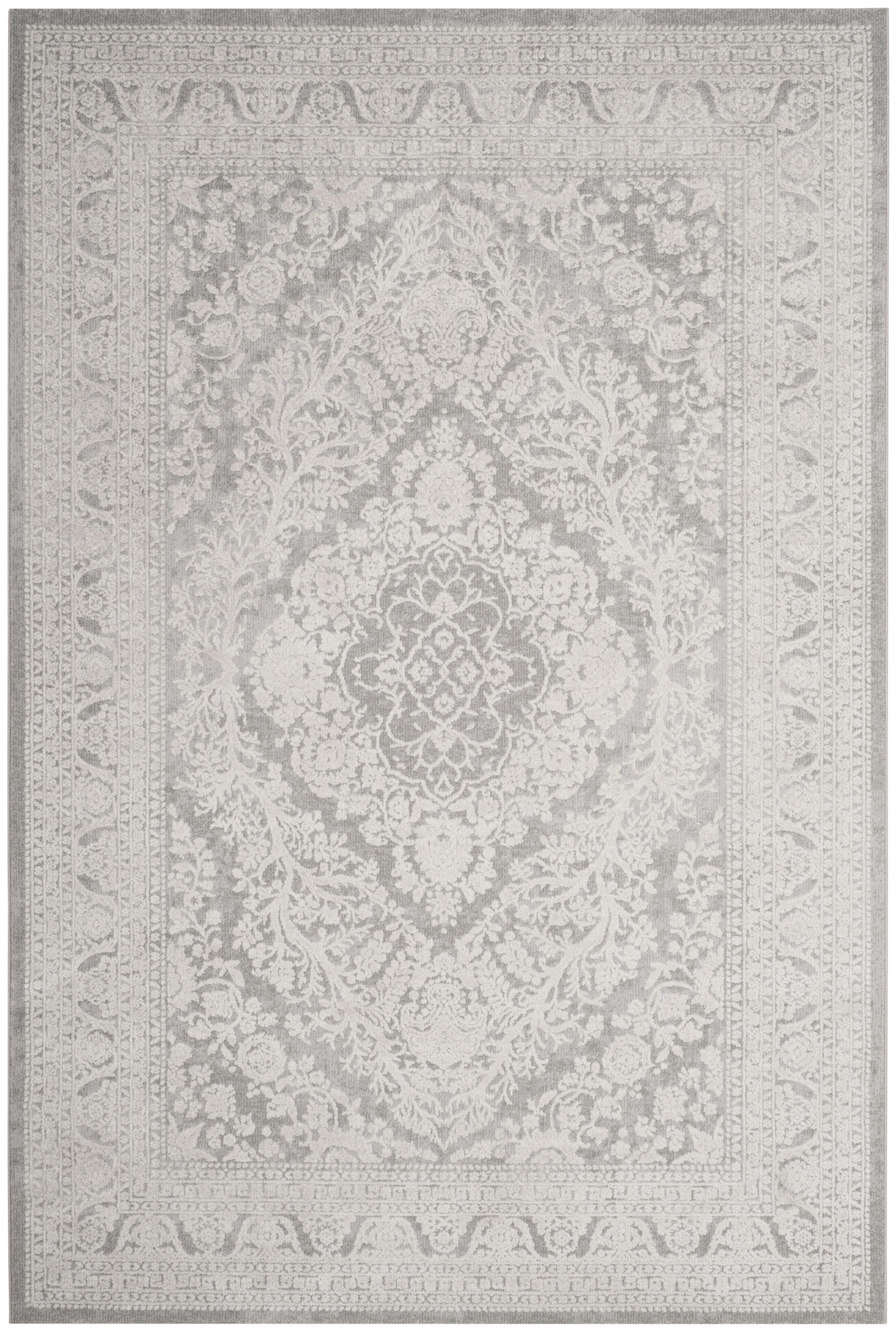 Pellot Light Gray/Cream Area Rug Rug Size: Runner 2'3