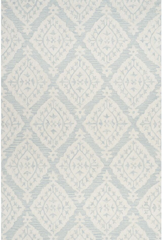 Peltz Hand-Tufted Blue/Gray Area Rug Rug Size: Rectangle 9' x 12'