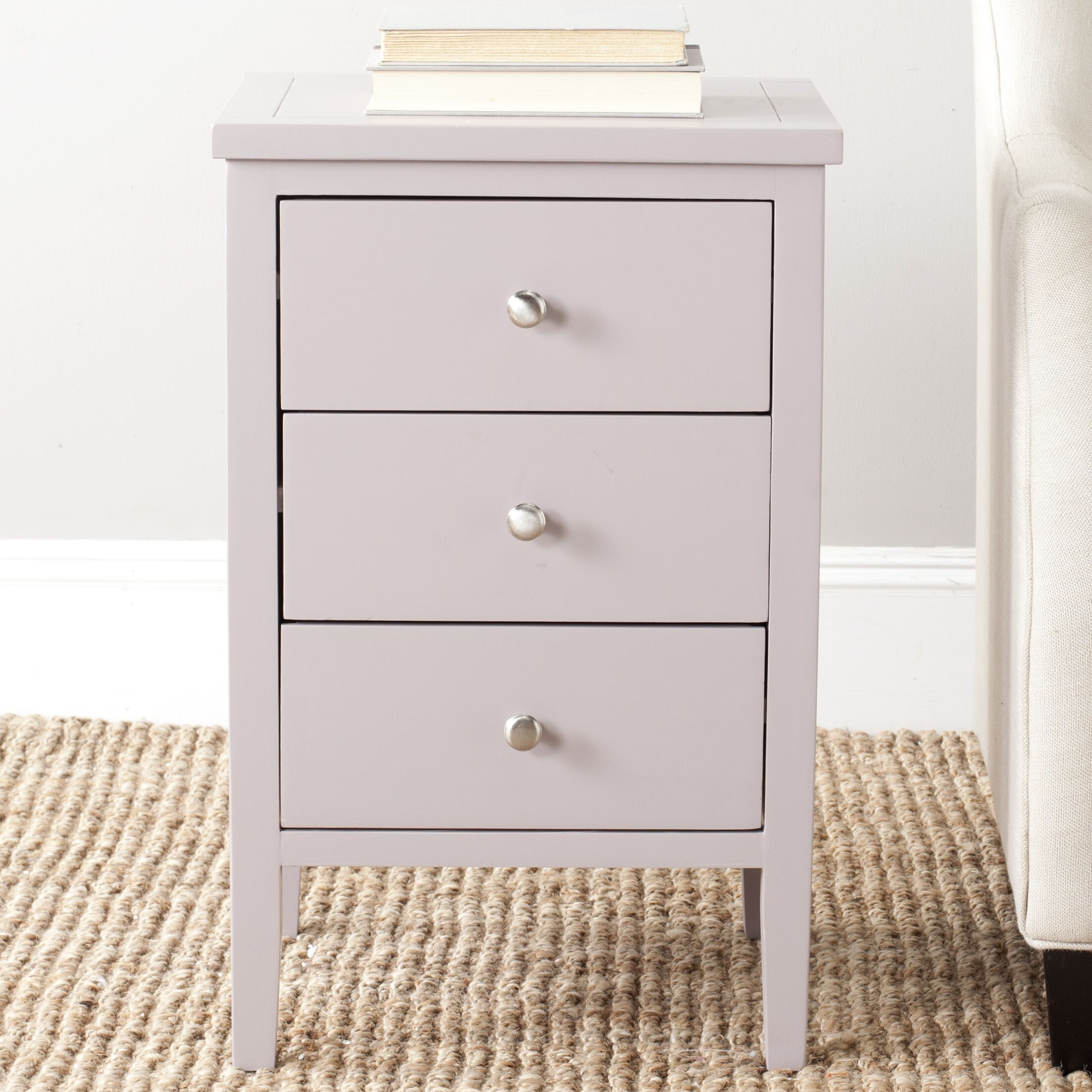 Tussilage End Table With Storage Color: Quartz Gray