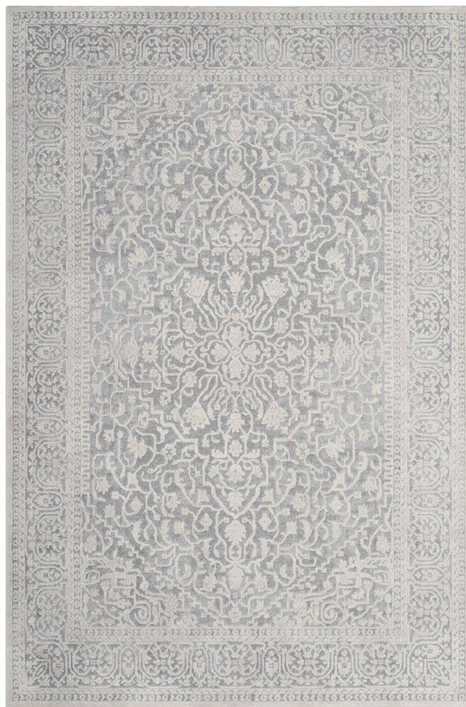 Pellot Light Gray/Cream Area Rug Rug Size: Square 5' x 5'