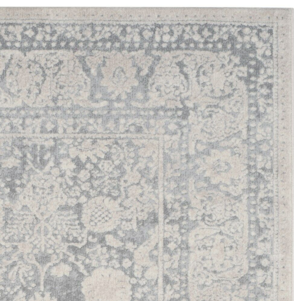 Pellot Light Gray/Cream Area Rug Rug Size: Rectangle 4' x 6'